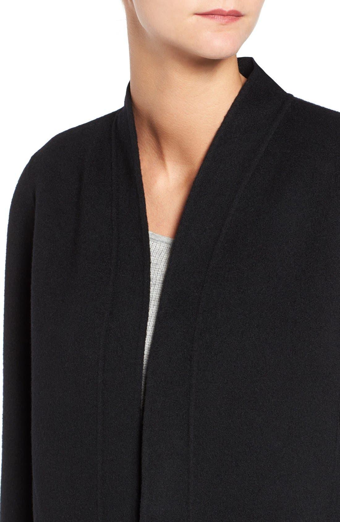 Double Face Brushed Wool Blend Kimono Jacket,                             Alternate thumbnail 2, color,                             001