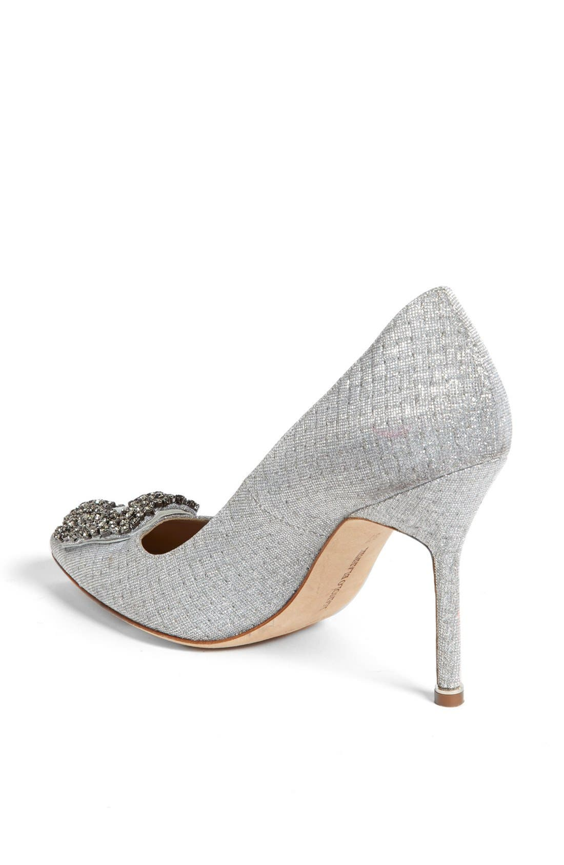 'Hangisi' Jeweled Pump,                             Alternate thumbnail 2, color,                             SILVER
