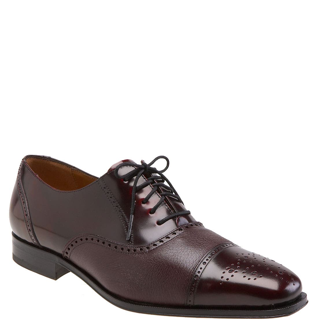 'Tyson II' Oxford,                             Main thumbnail 1, color,                             BURGUNDY