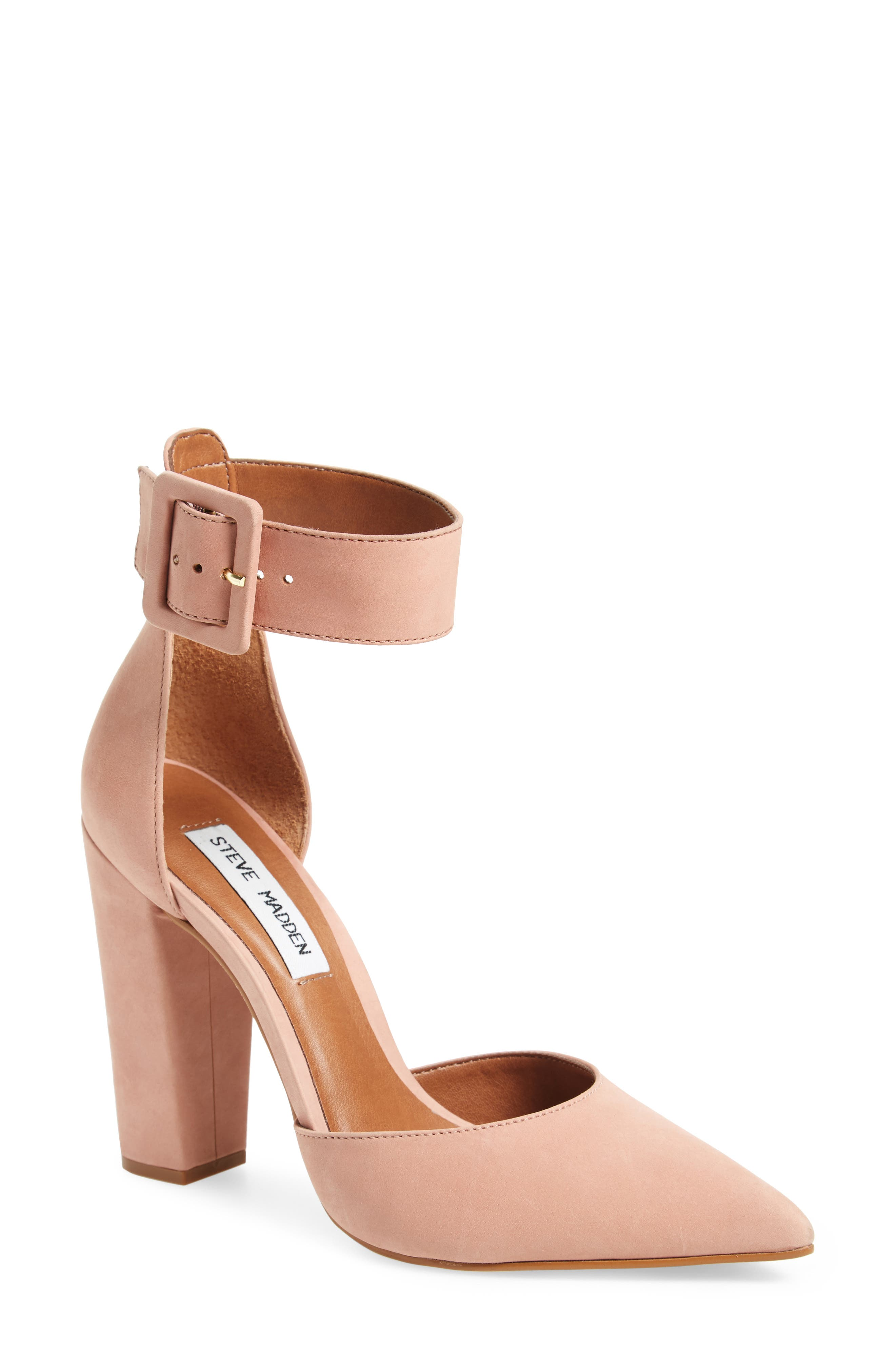 Posted Ankle Strap Pump,                             Main thumbnail 3, color,