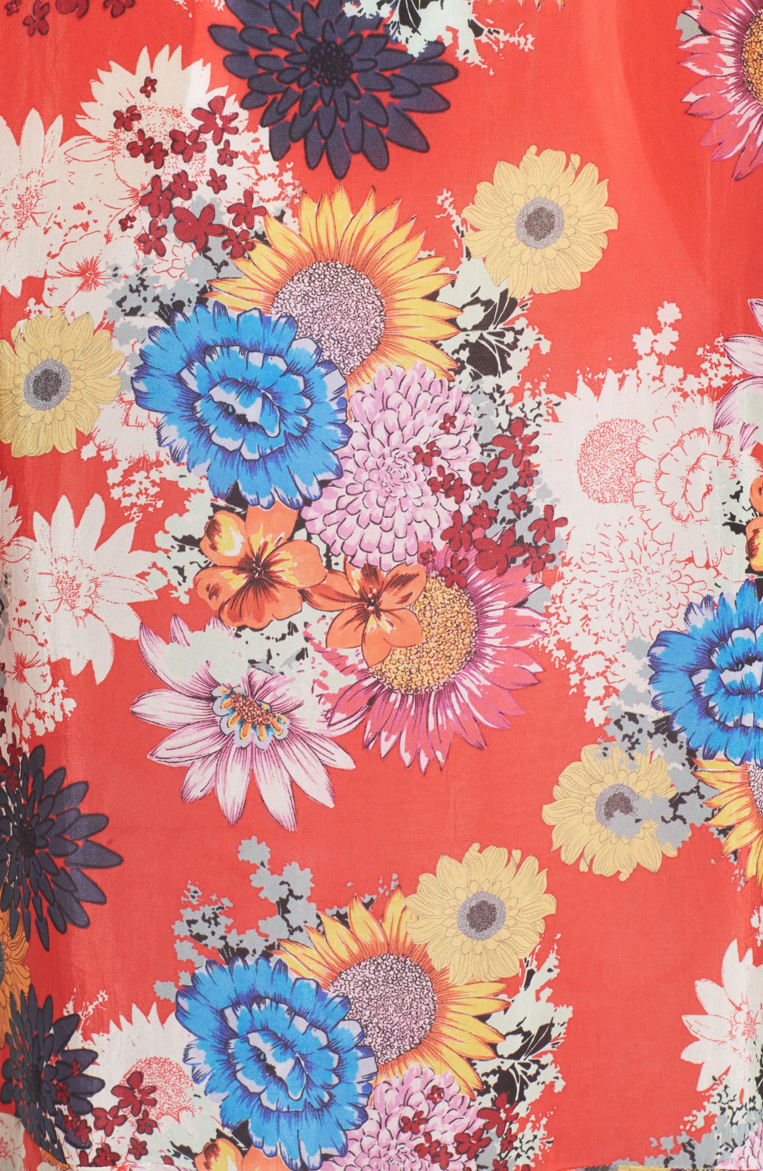 Mishka Embroidered Silk Kimono,                             Alternate thumbnail 5, color,                             600