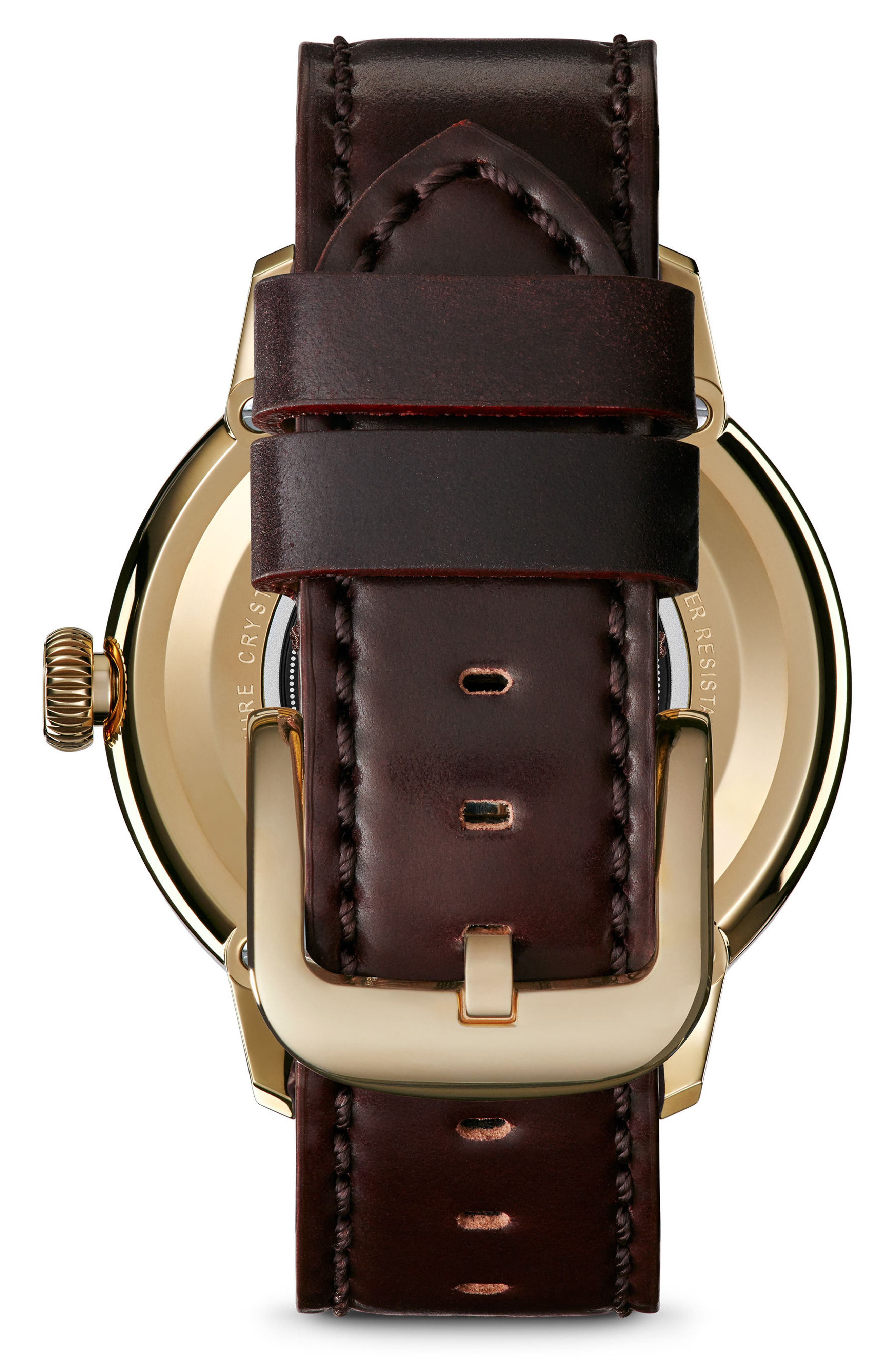 Bedrock Leather Strap Watch, 42mm,                             Alternate thumbnail 2, color,                             200