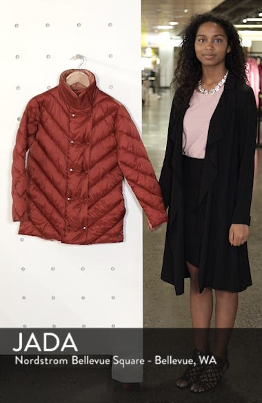 Contrast Lining Puffer Coat, sales video thumbnail