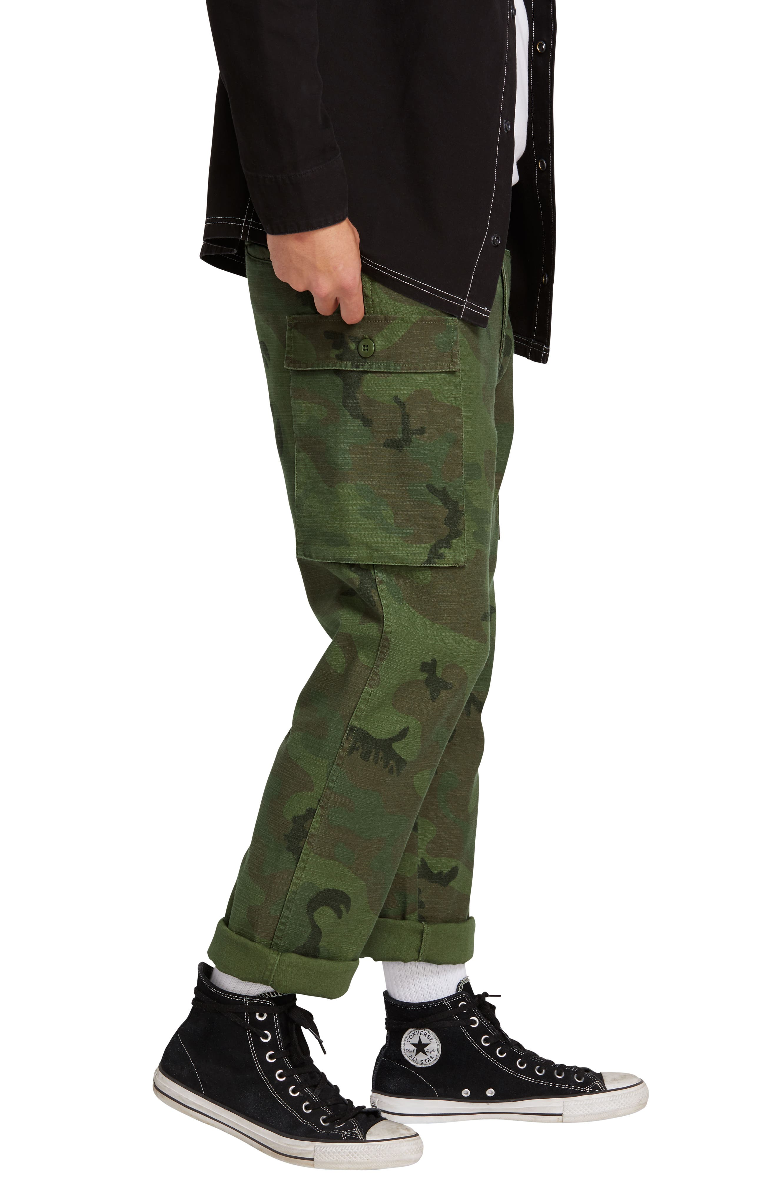 Gritter Cargo Pants,                             Alternate thumbnail 3, color,                             CAMOUFLAGE