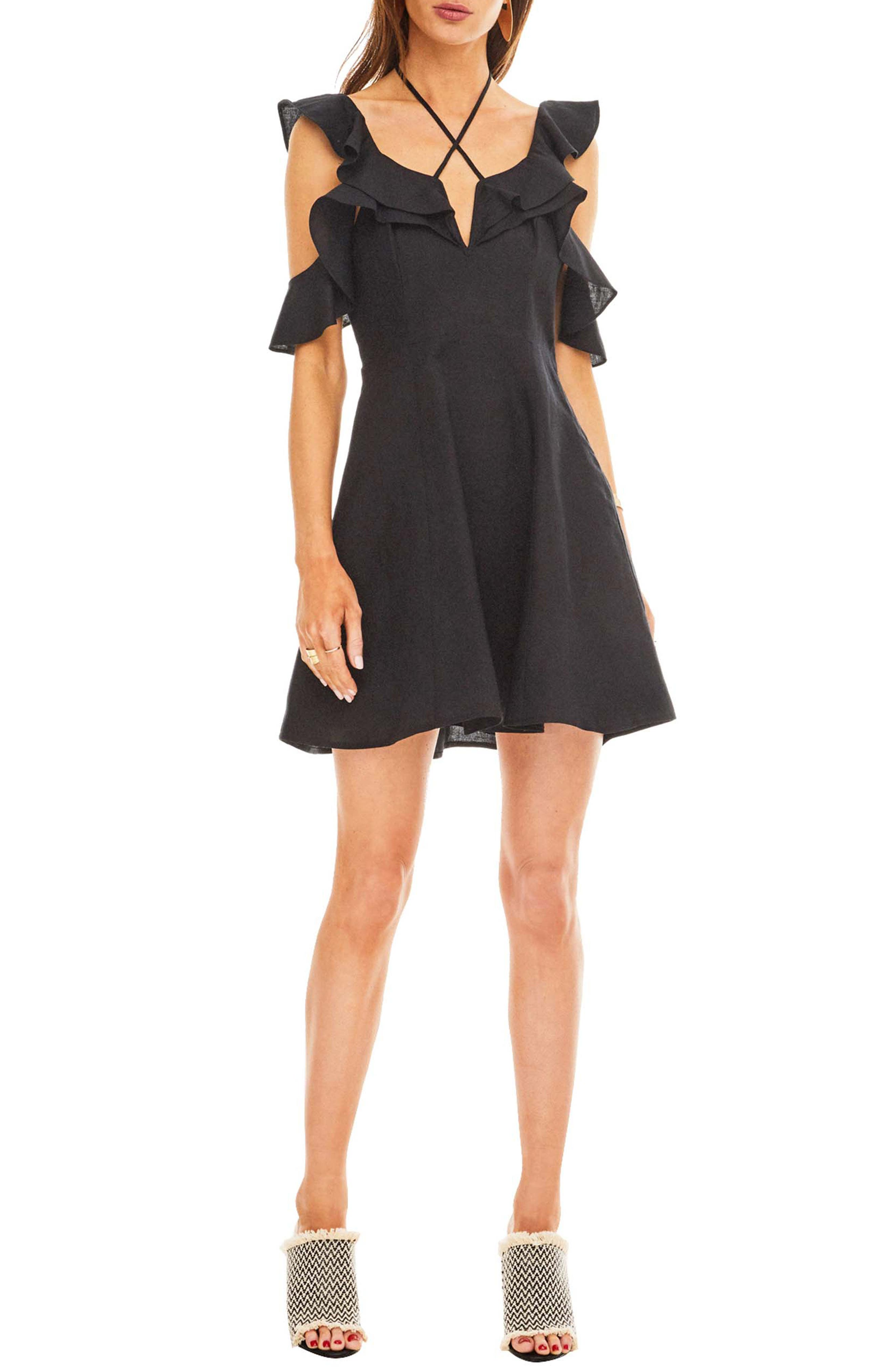 Astr The Label Emi Dress, Black