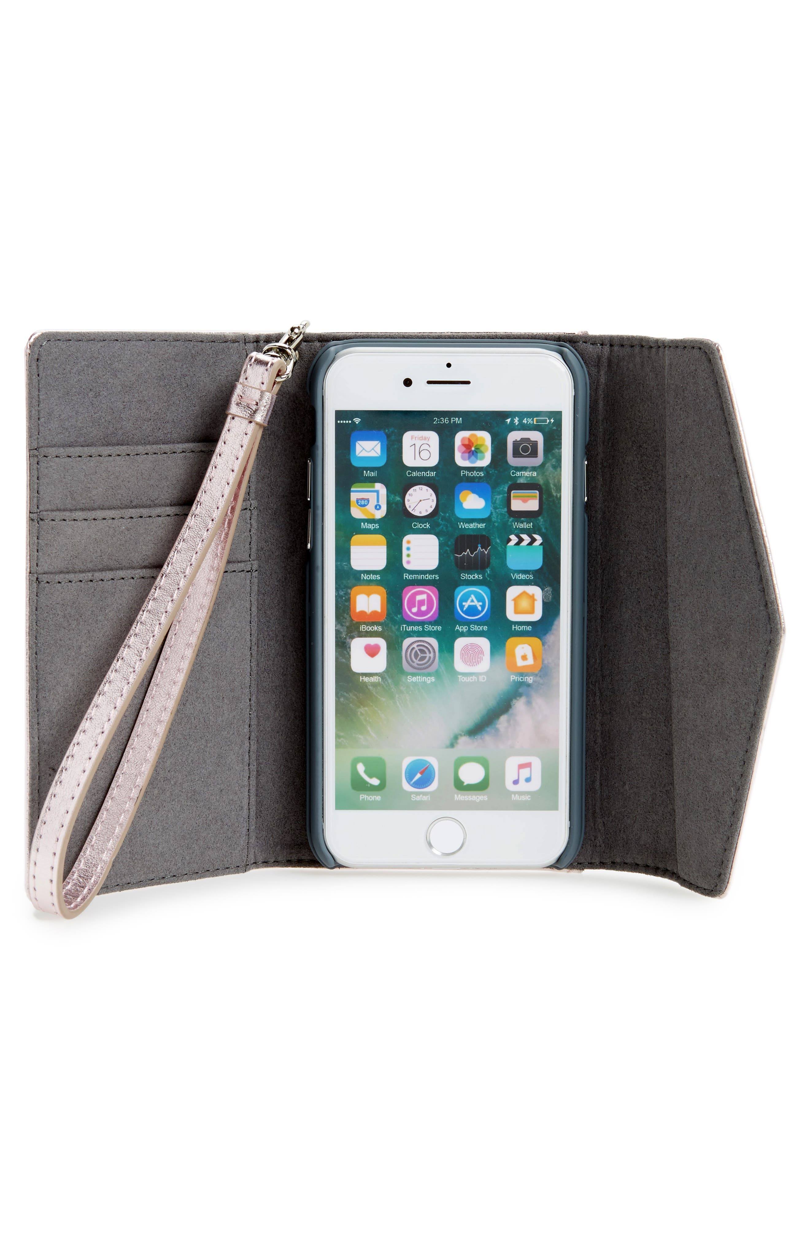 Leather Whipstitch iPhone 7/8 Wristlet,                             Alternate thumbnail 2, color,                             540
