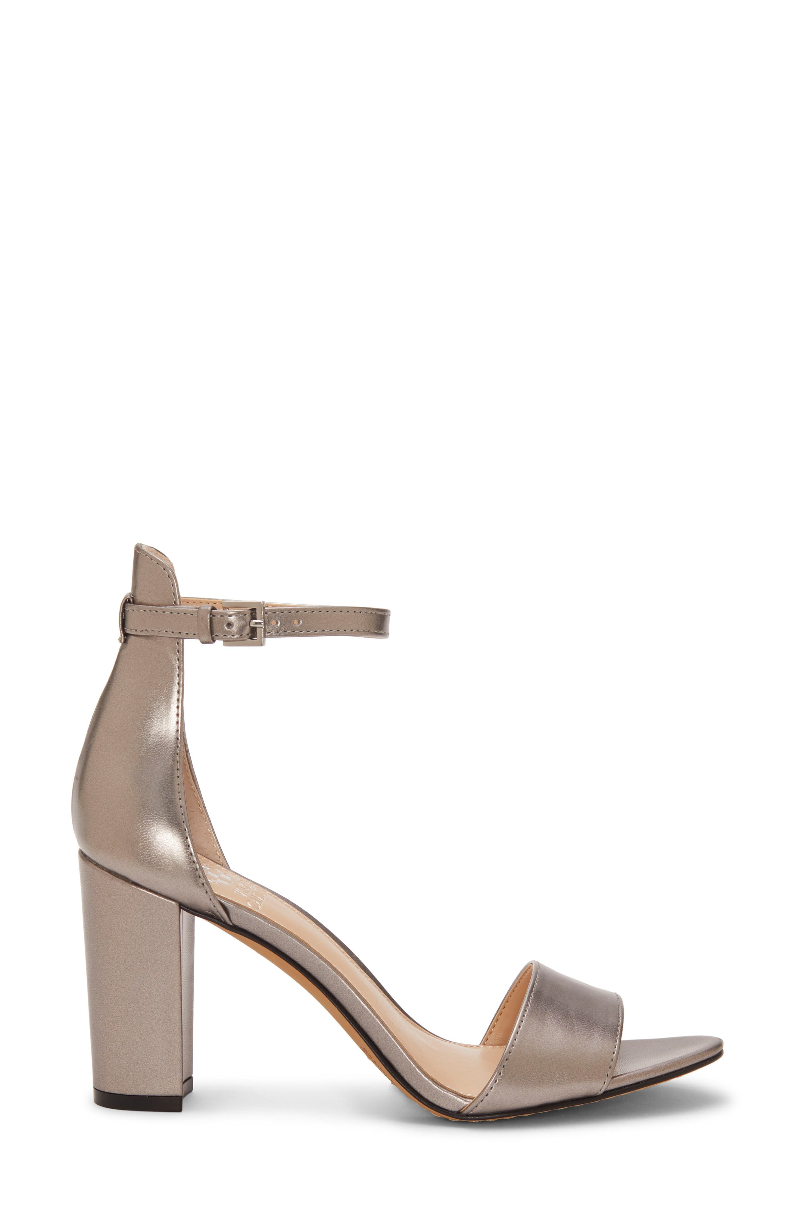 VINCE CAMUTO,                             Corlina Ankle Strap Sandal,                             Alternate thumbnail 3, color,                             METAL GREY