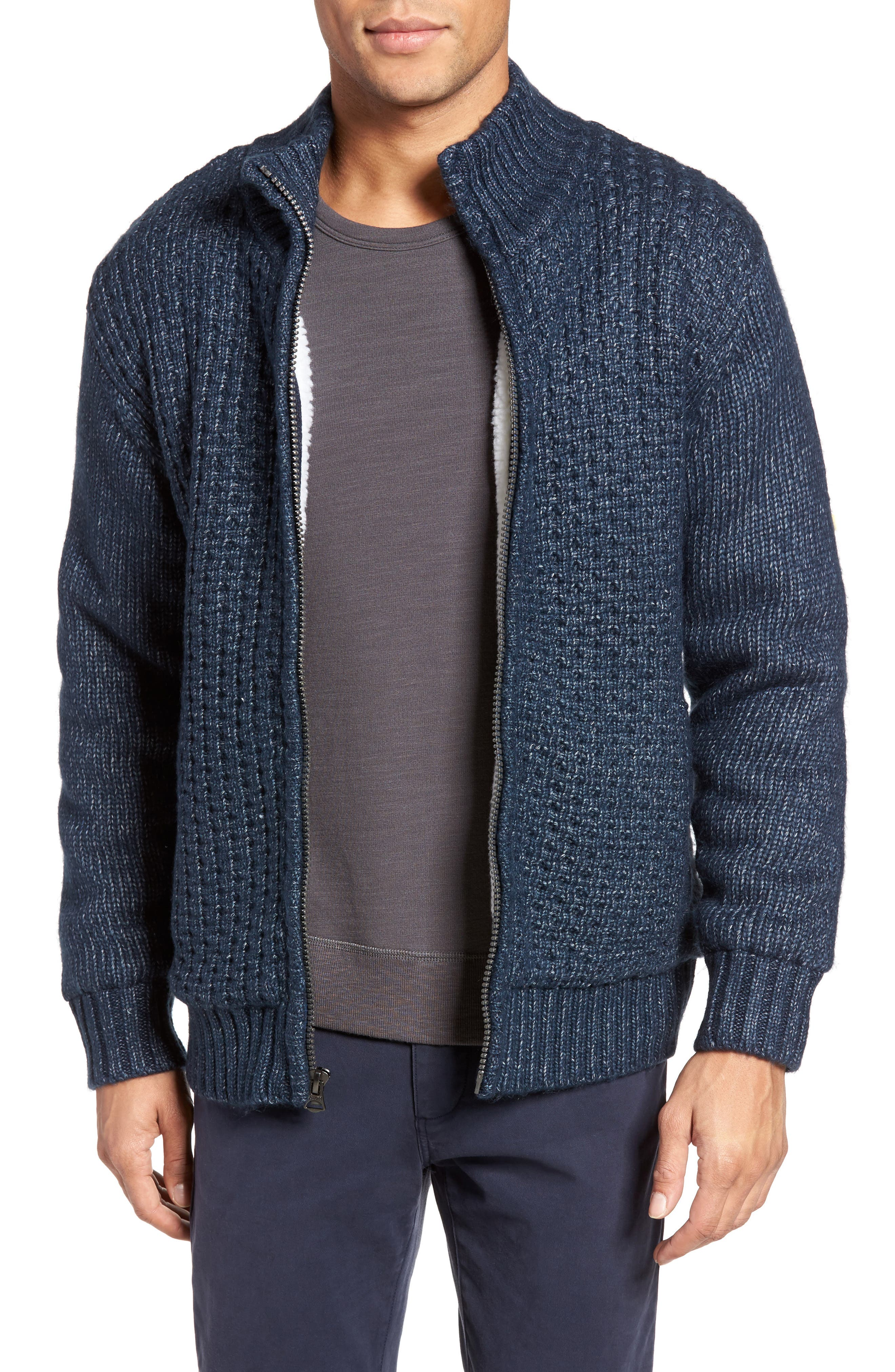 Zip Front Sherpa Sweater Jacket, Main, color, 407