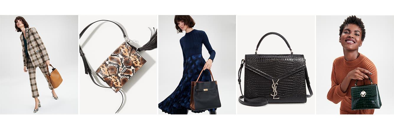 Women's handbags.