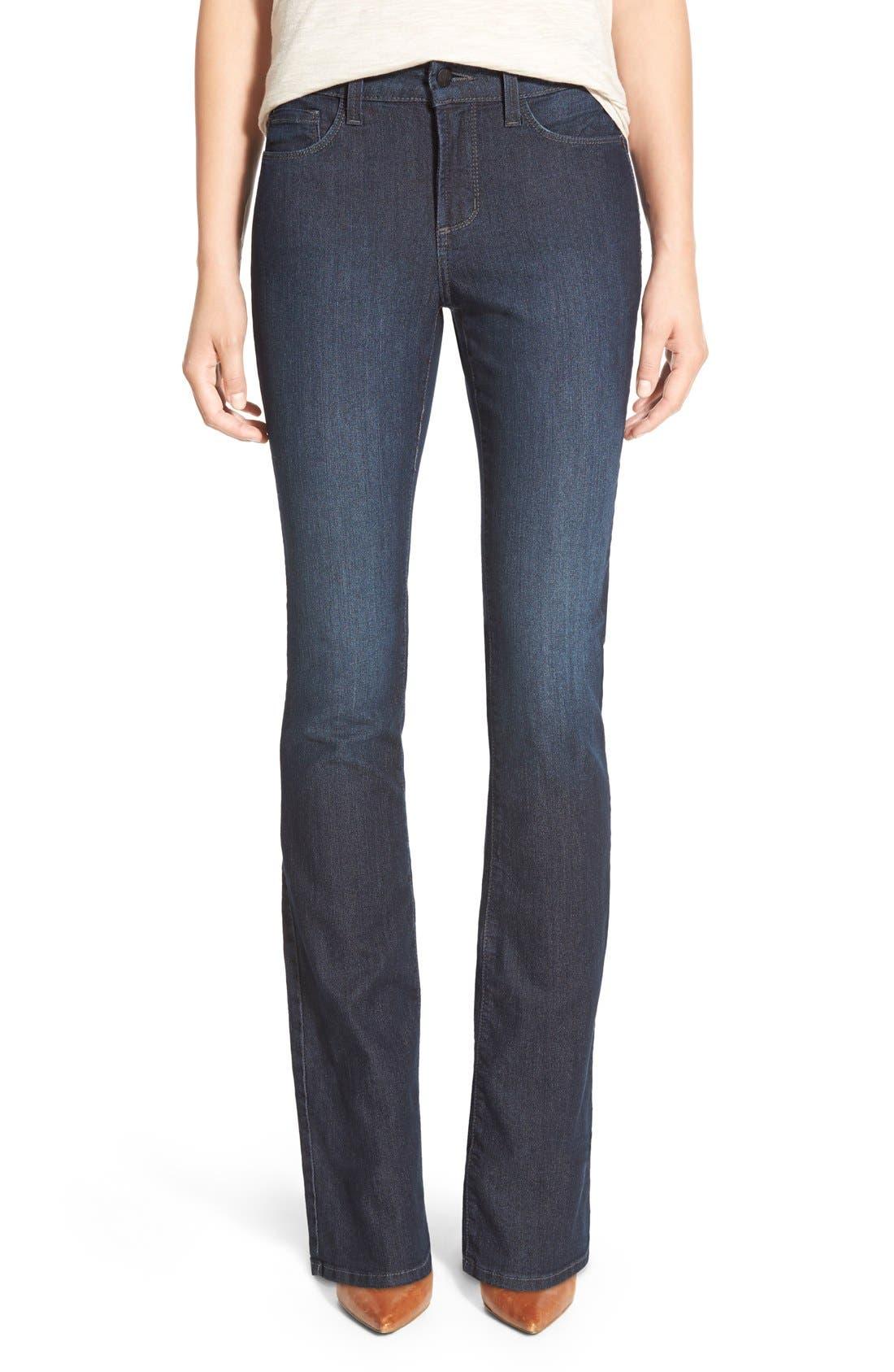 'Billie' Stretch Mini Bootcut Jeans,                             Main thumbnail 1, color,