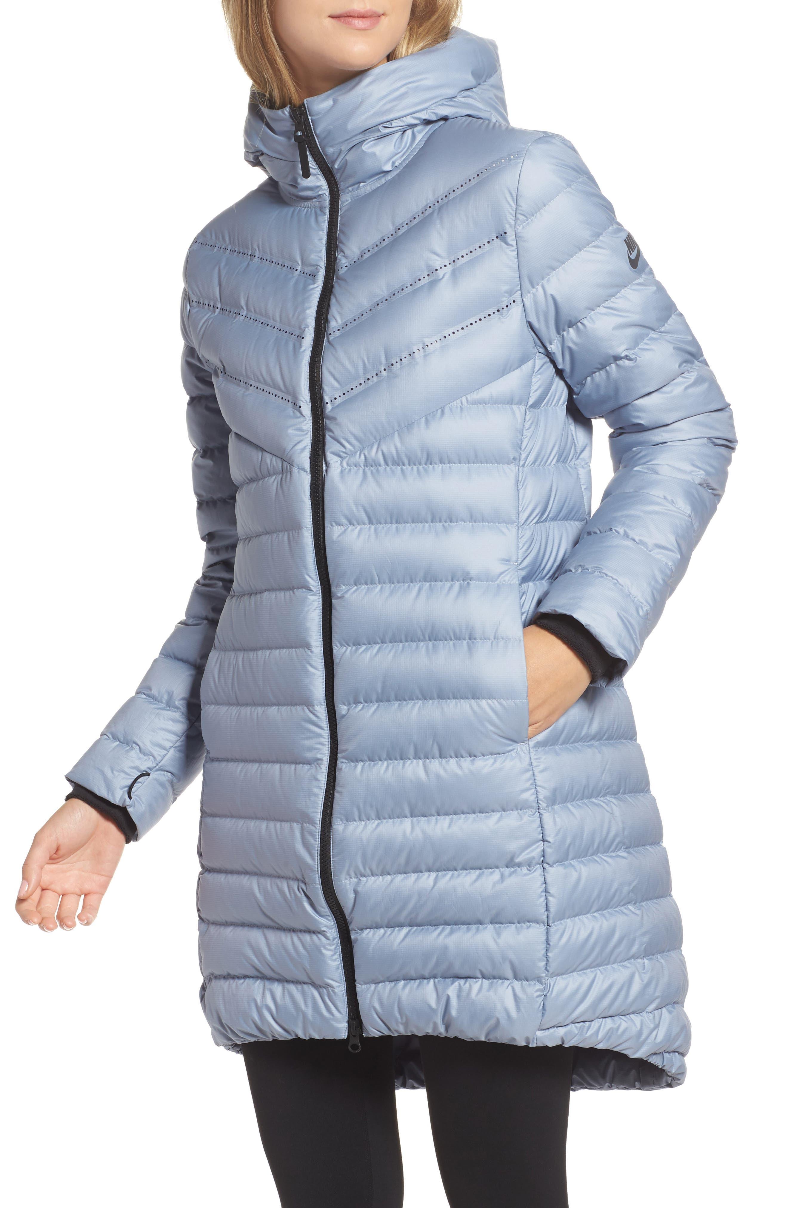 Sportswear Women's AeroLoft 3-in-1 Down Fill Parka,                             Alternate thumbnail 7, color,                             OBSIDIAN/ GLACIER GREY/ BLACK