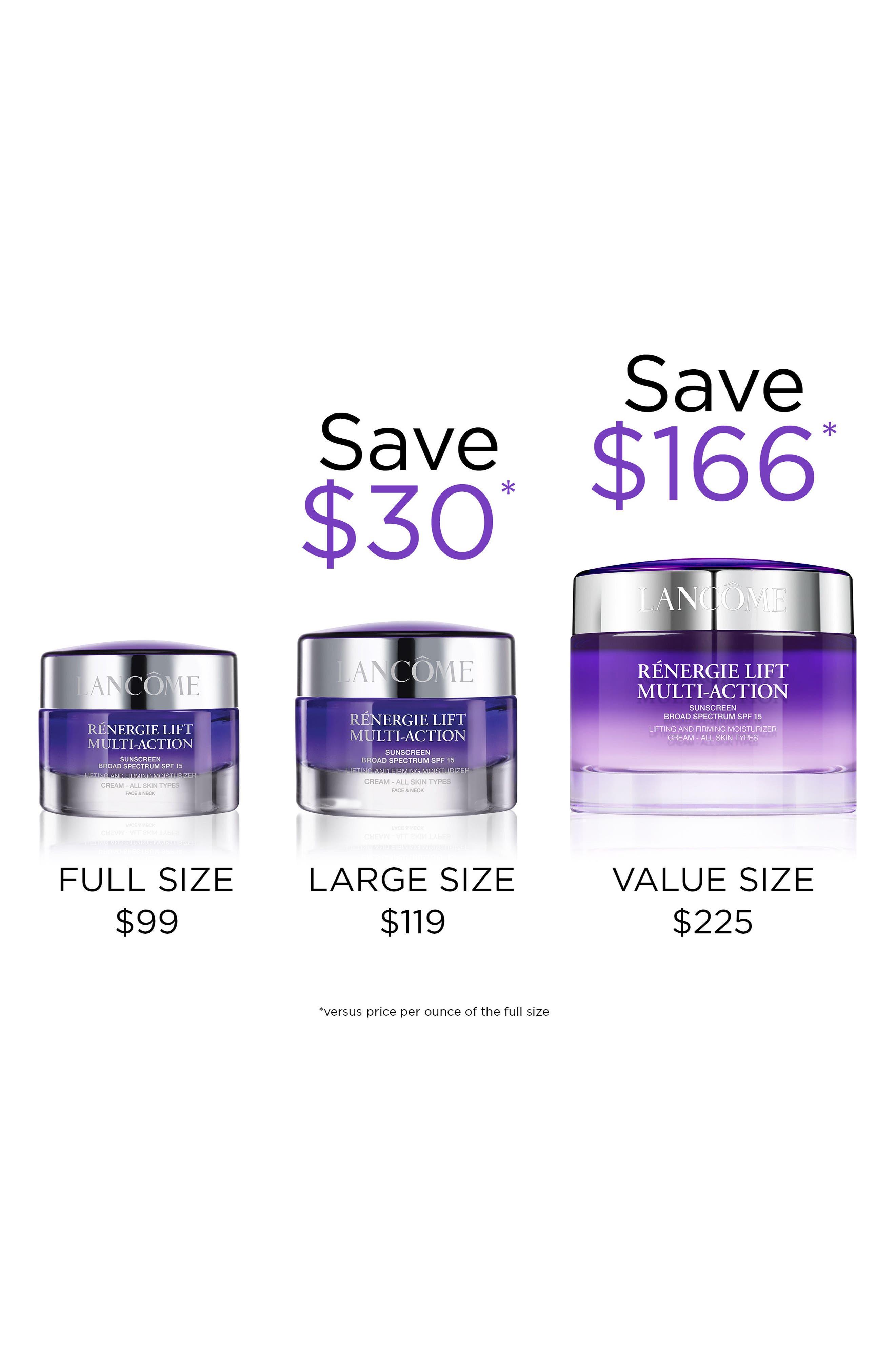 Rénergie Lift Multi Action Moisturizer Cream SPF 15 for Dry Skin,                             Alternate thumbnail 3, color,                             NO COLOR