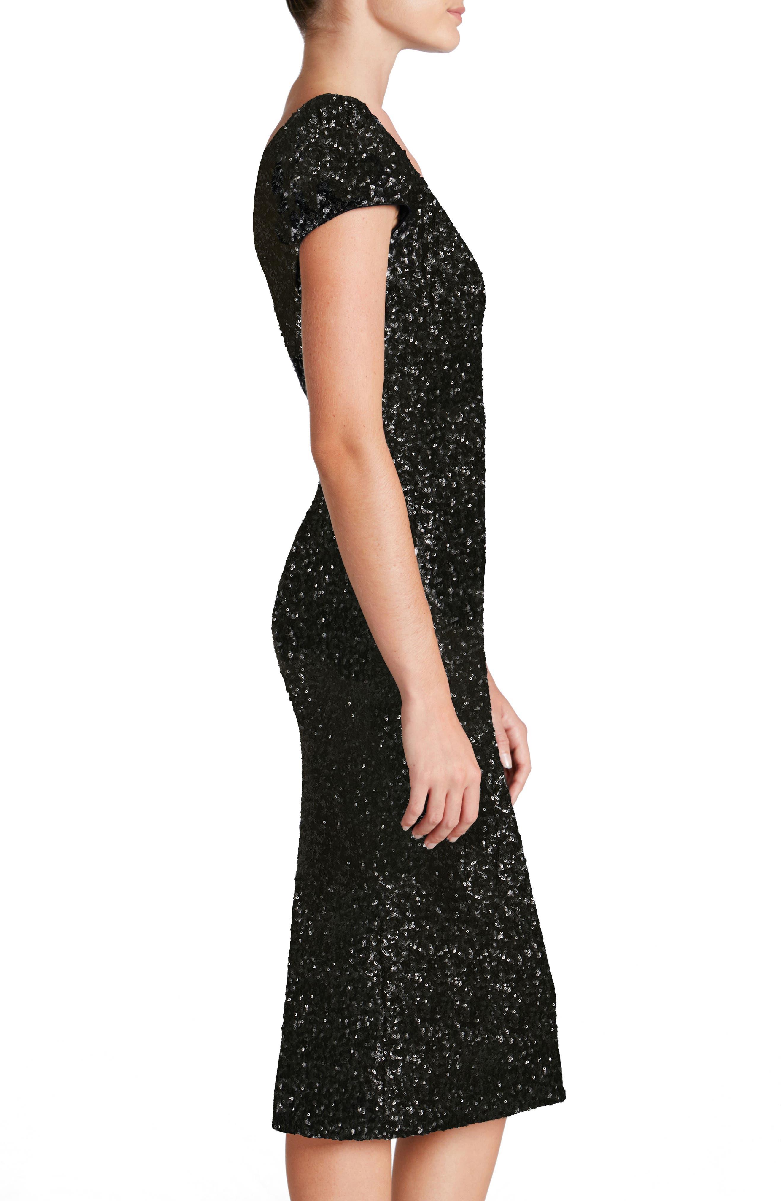 DRESS THE POPULATION,                             Allison Sequin Sheath Dress,                             Alternate thumbnail 4, color,                             008