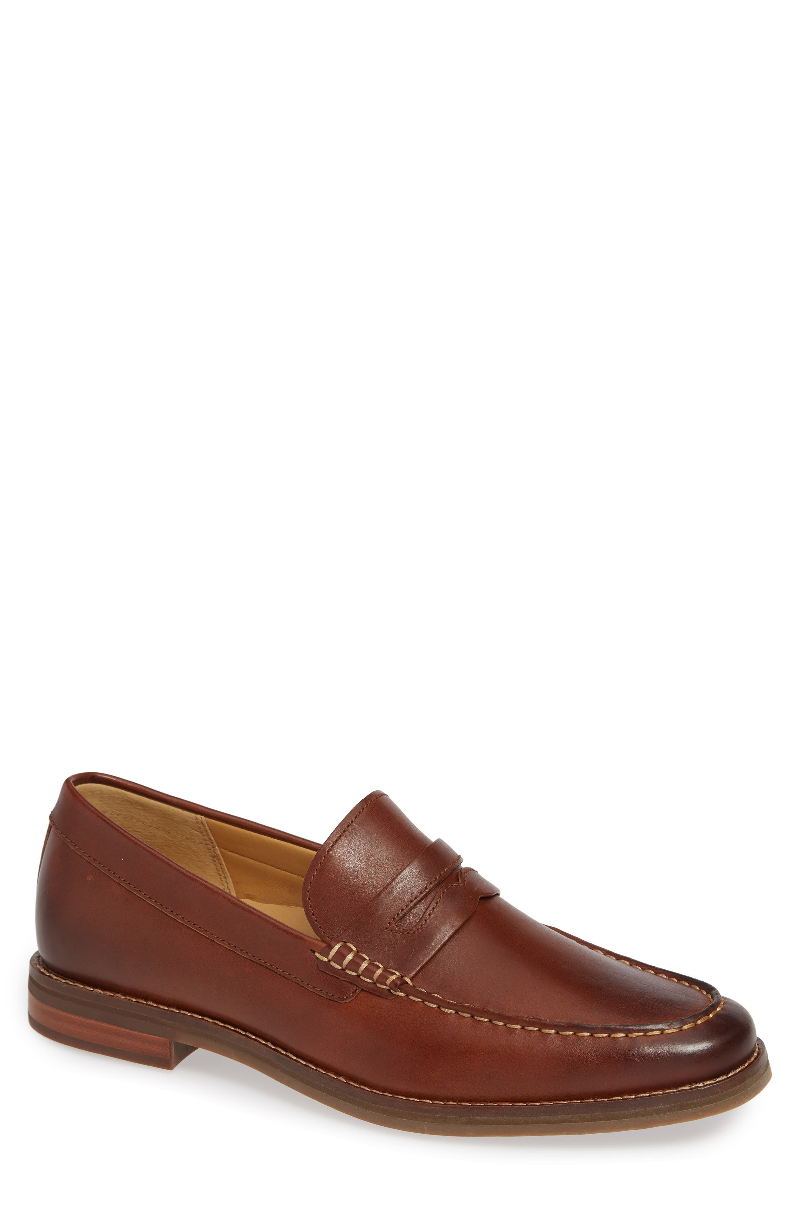 Gold Cup Exeter Penny Loafer,                             Main thumbnail 1, color,                             TAN