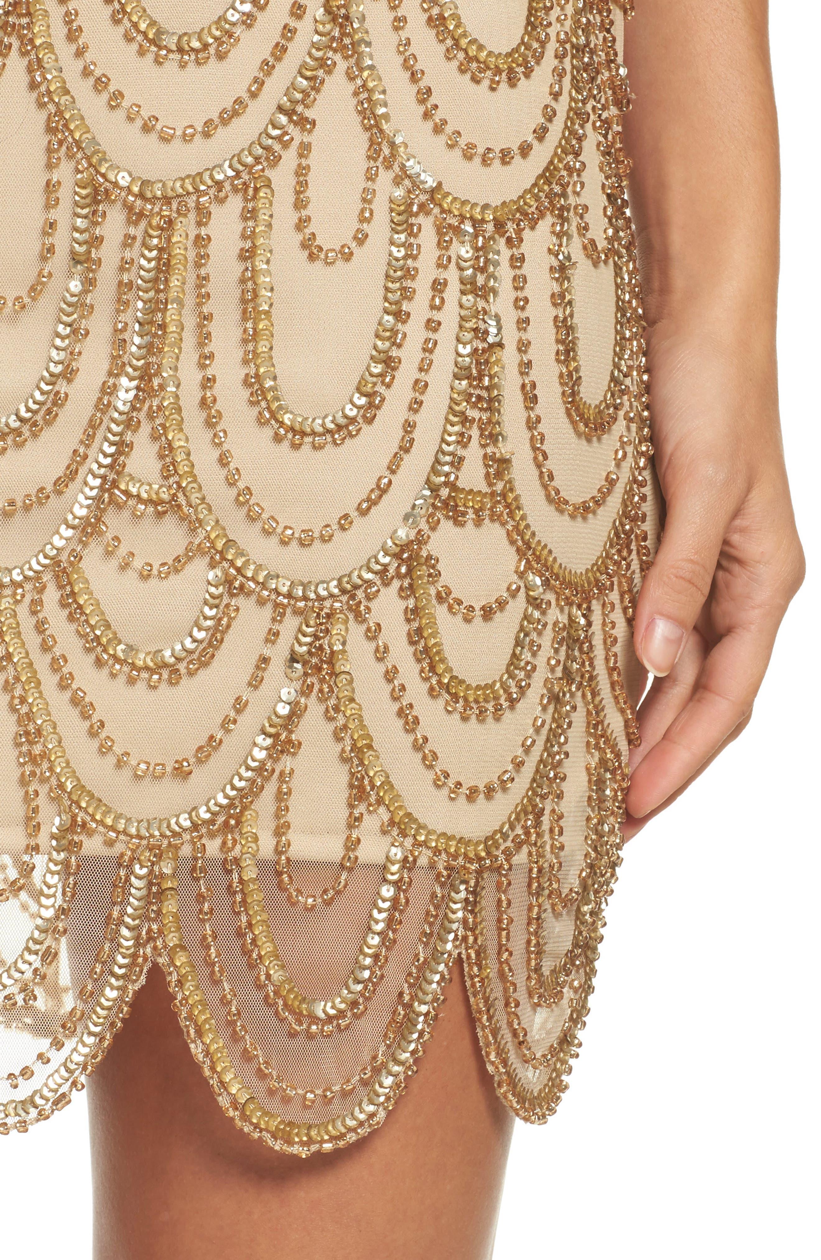 Embellished Mesh Sheath Dress,                             Alternate thumbnail 83, color,