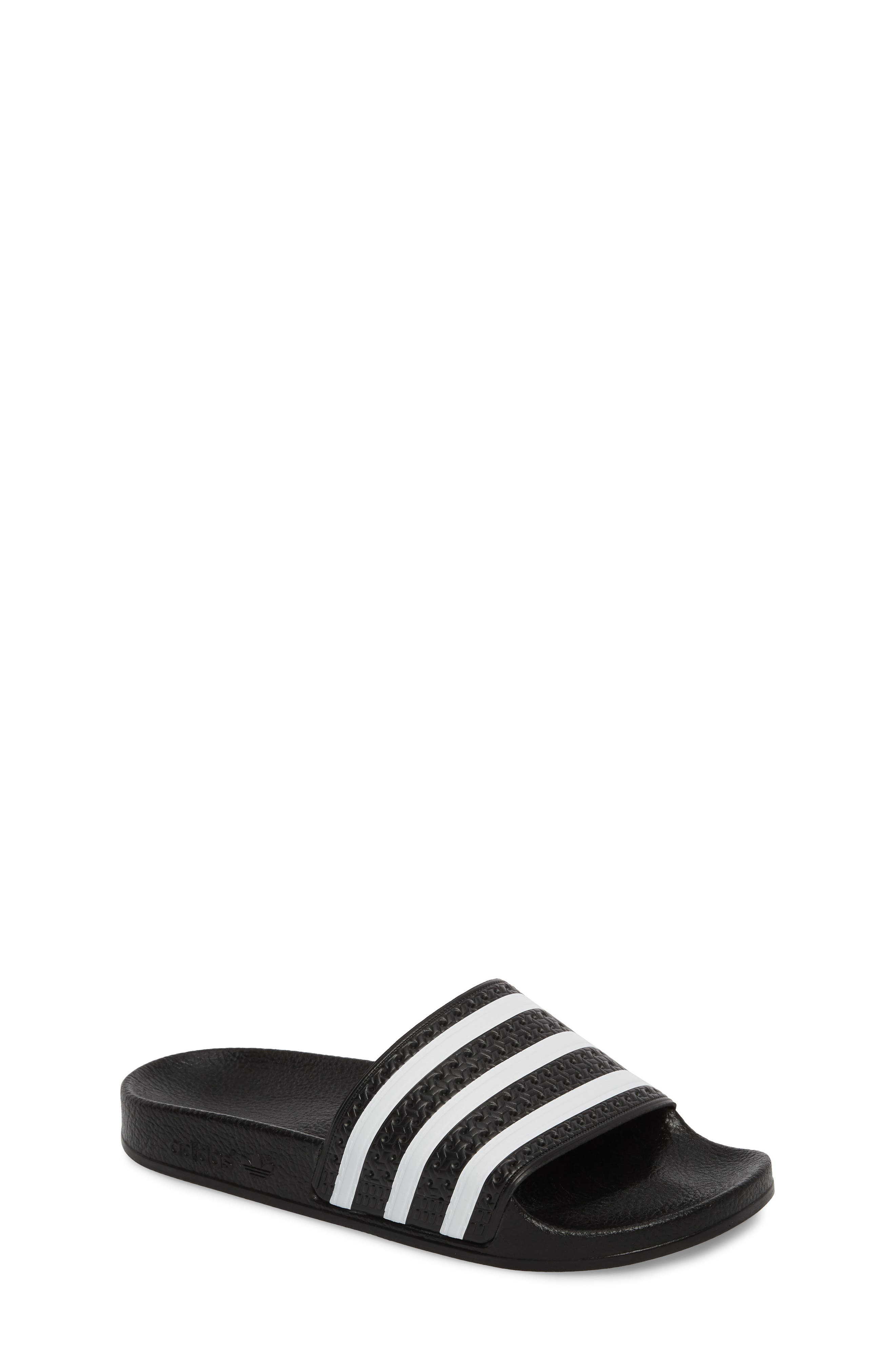 Adilette Sandal,                             Main thumbnail 1, color,                             BLACK