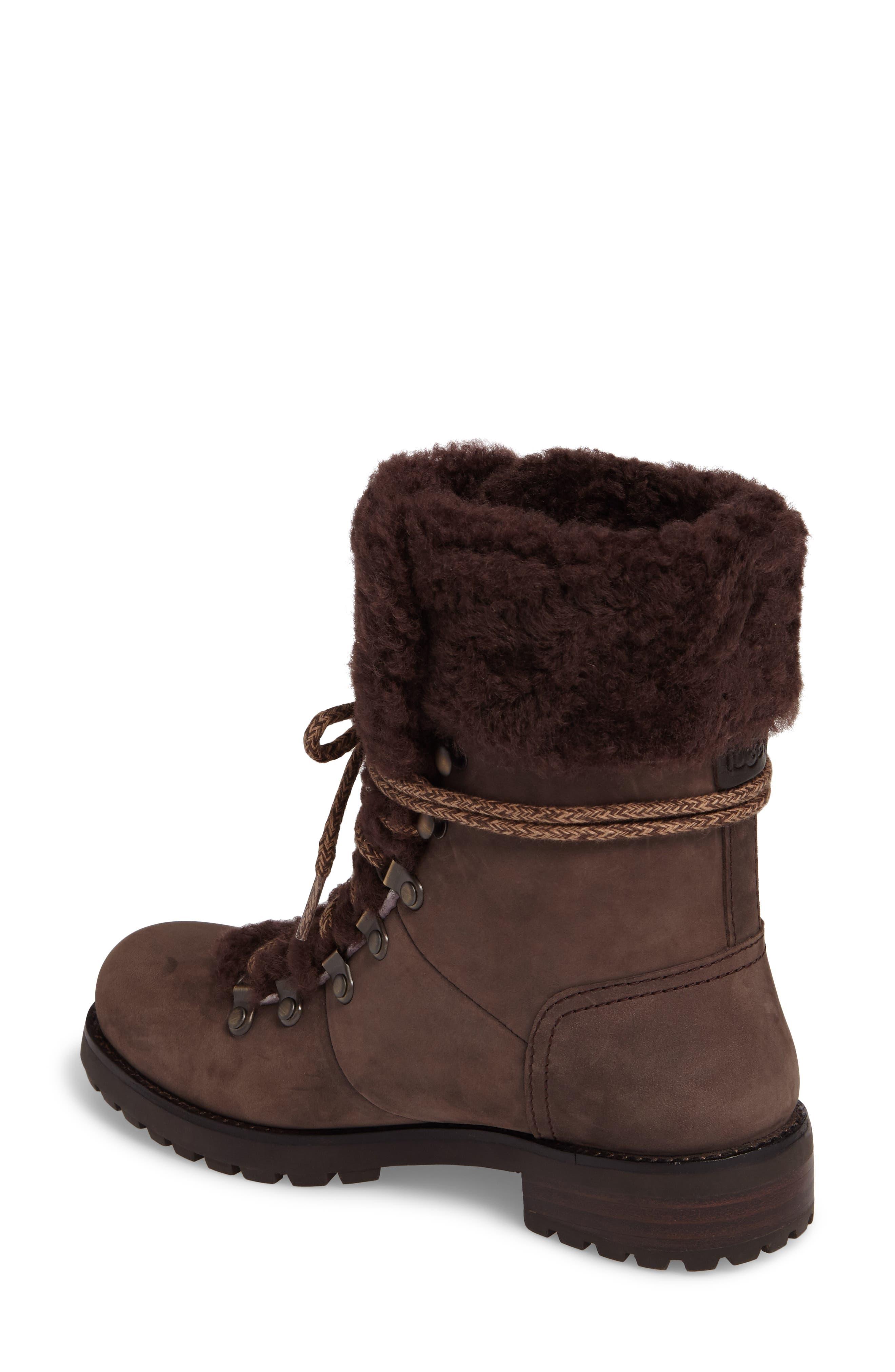 Fraser Genuine Shearling Water Resistant Boot,                             Alternate thumbnail 7, color,