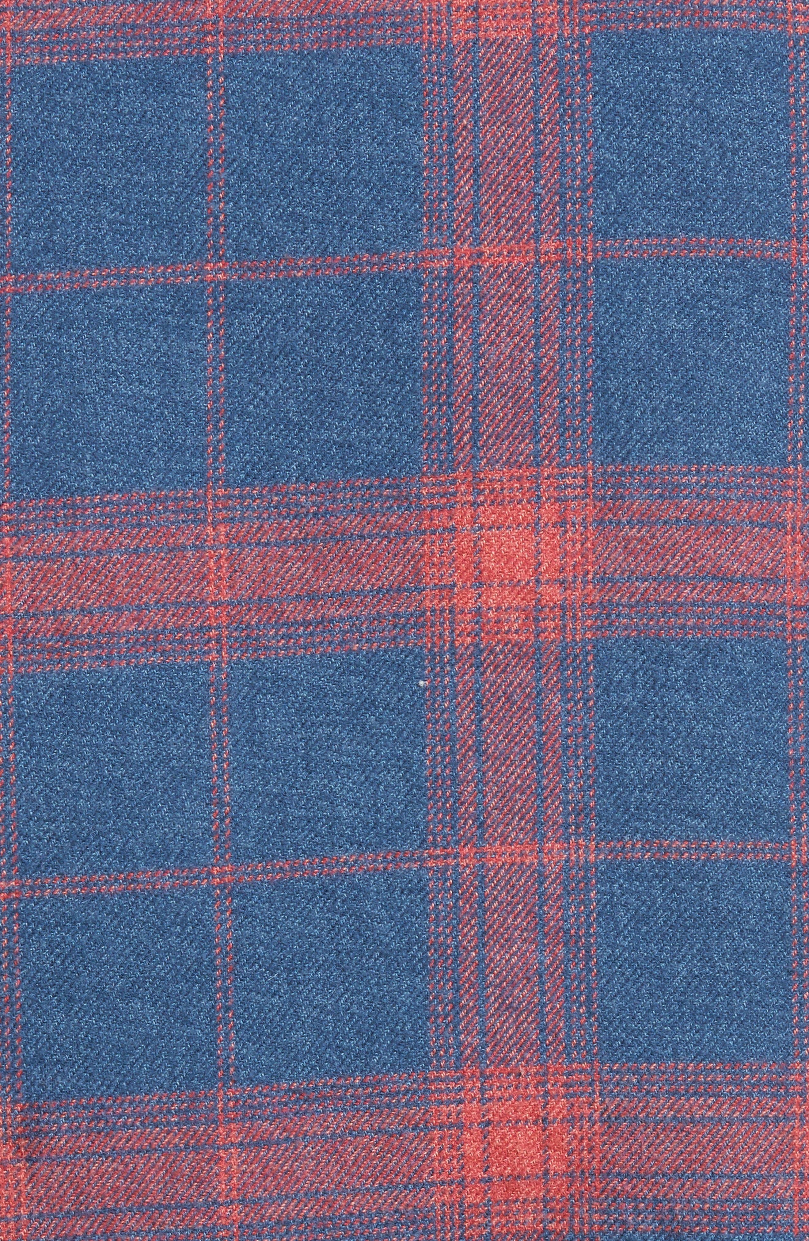 Plaid Flannel Vest,                             Alternate thumbnail 6, color,
