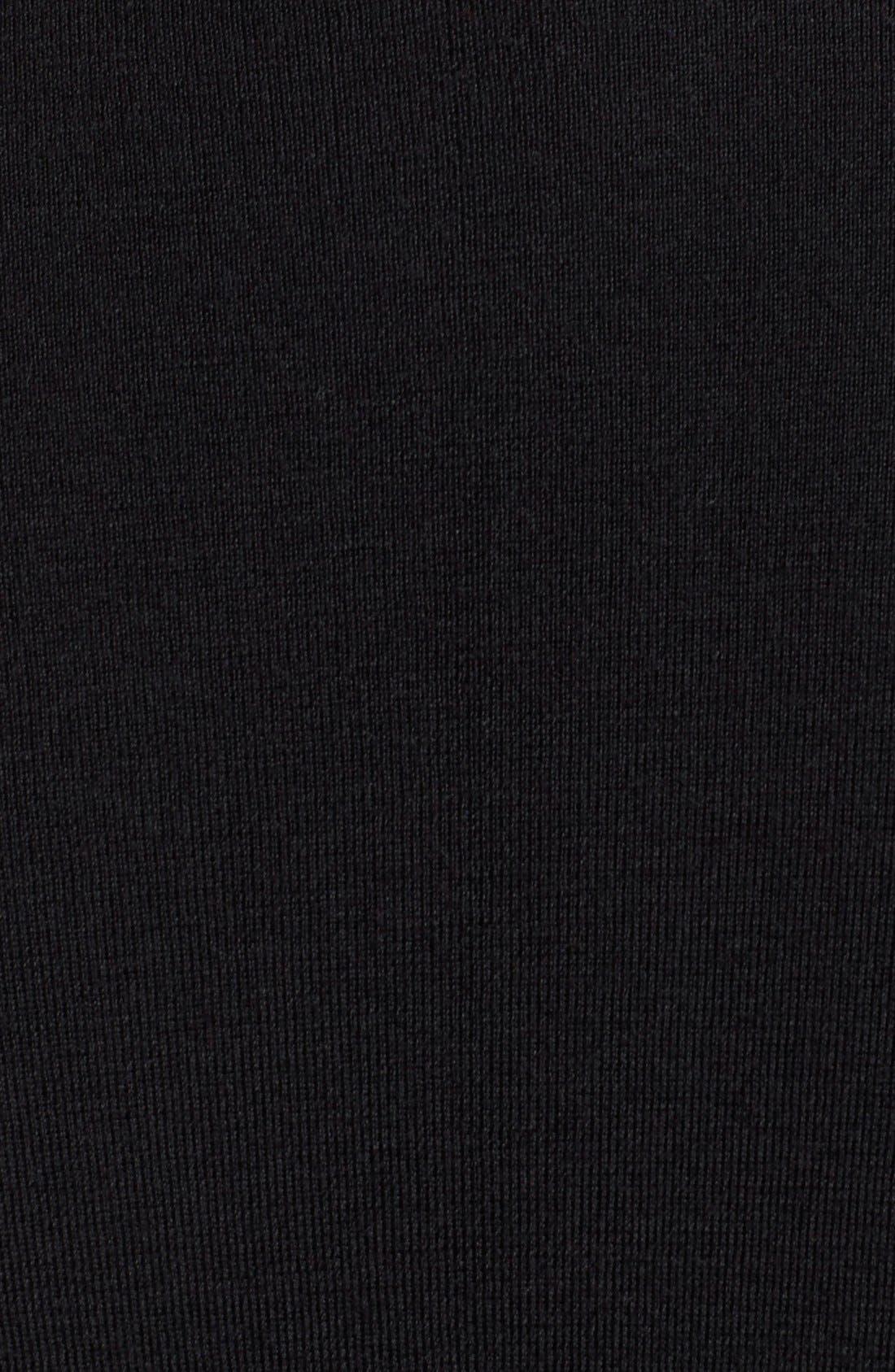 Draped Wool Knit Cardigan,                             Alternate thumbnail 9, color,                             BLACK