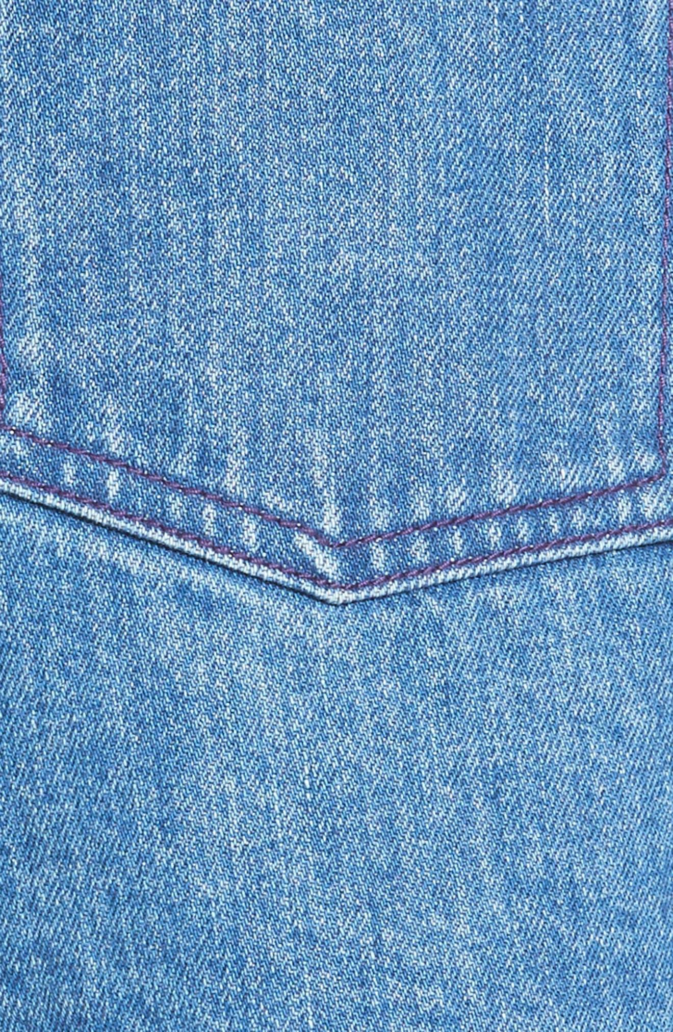 Inside Out Denim Shorts,                             Alternate thumbnail 5, color,                             420