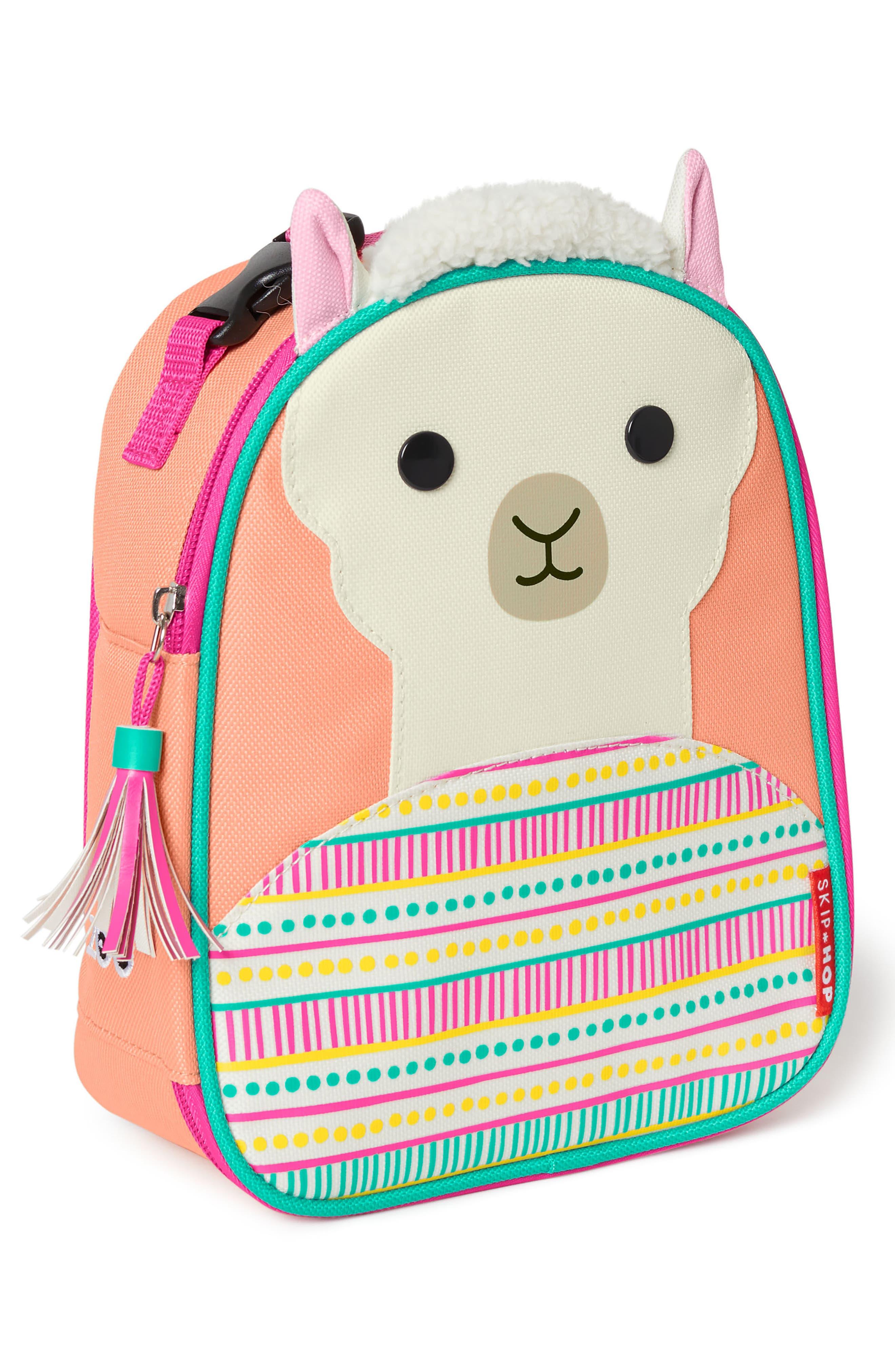 SKIP HOP,                             Insulated Llama Lunch Bag,                             Alternate thumbnail 2, color,                             PINK MULTI