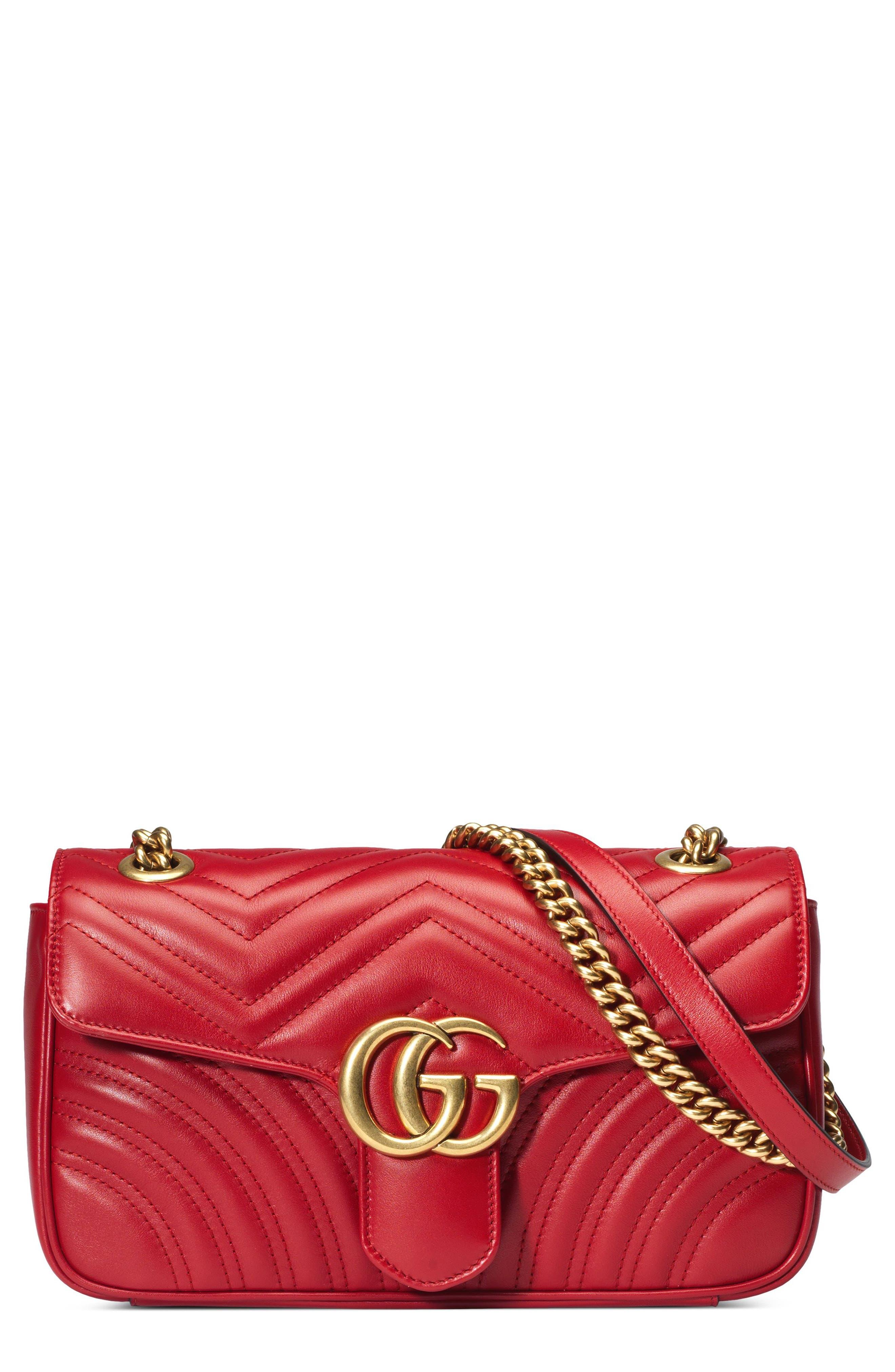 Small GG Marmont 2.0 Matelassé Leather Shoulder Bag,                             Main thumbnail 4, color,