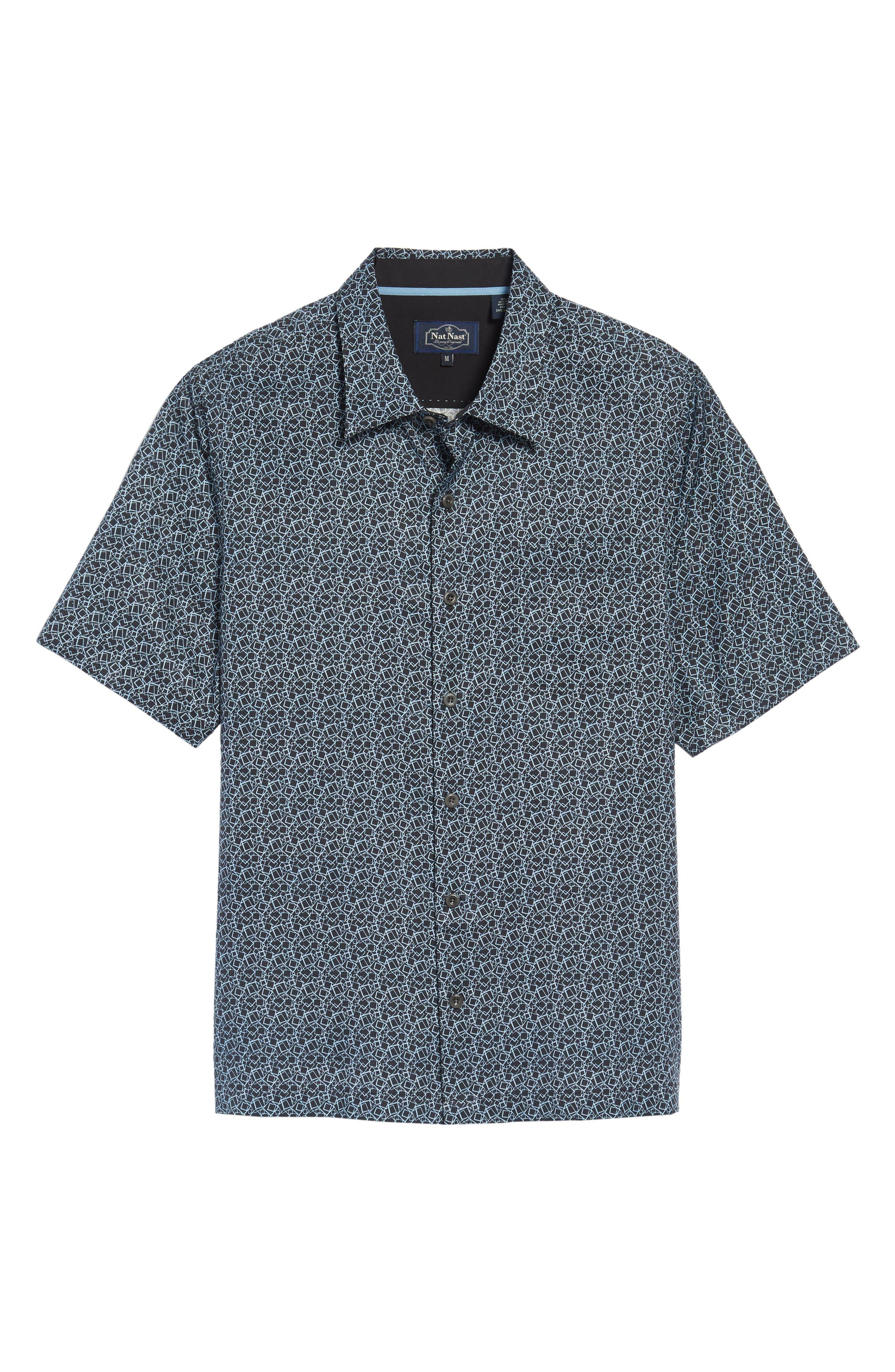 Blizzard Classic Fit Silk Blend Sport Shirt,                             Alternate thumbnail 6, color,                             001