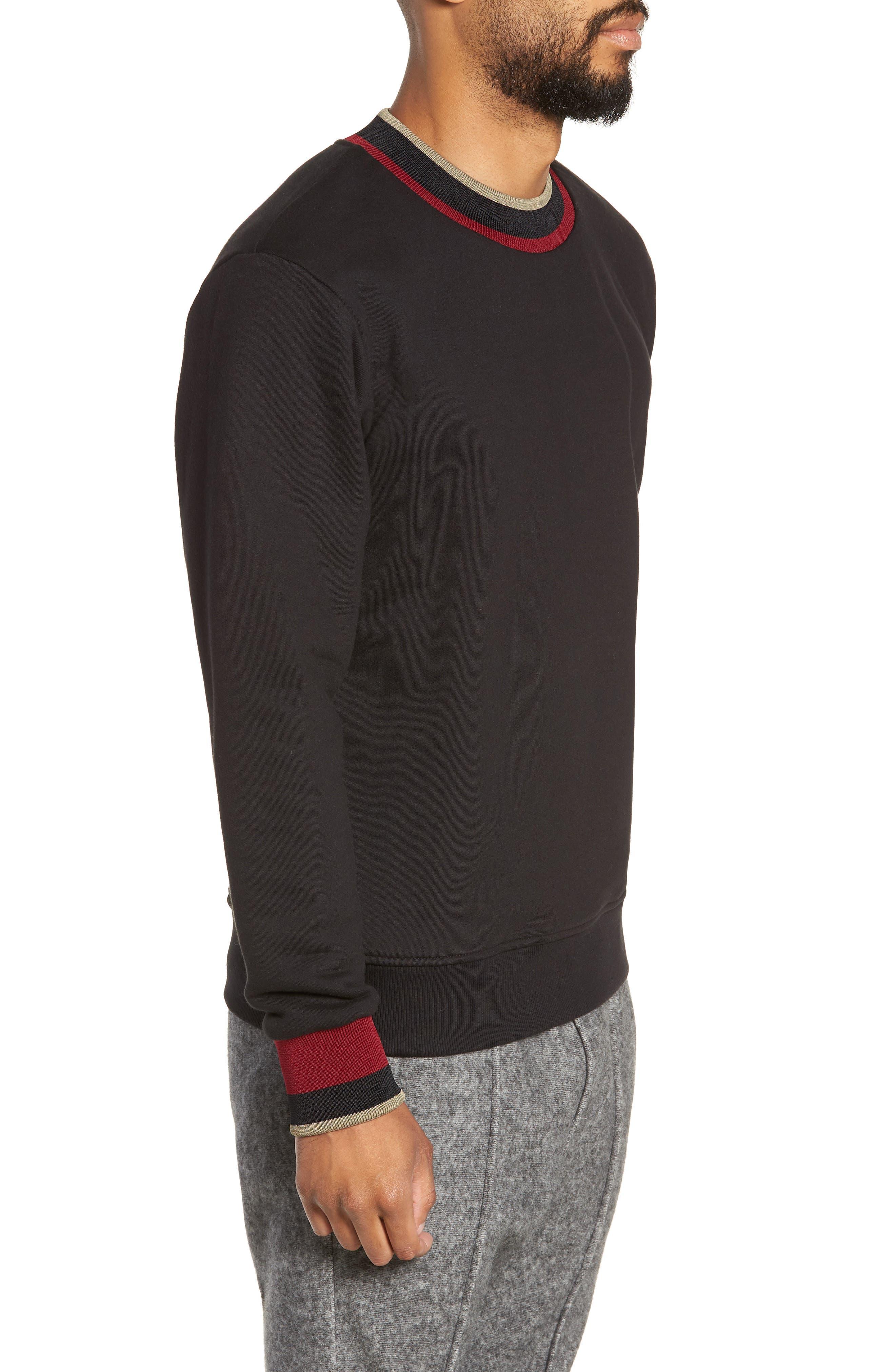 Pride Mock Neck Sweatshirt,                             Alternate thumbnail 3, color,                             JET BLACK