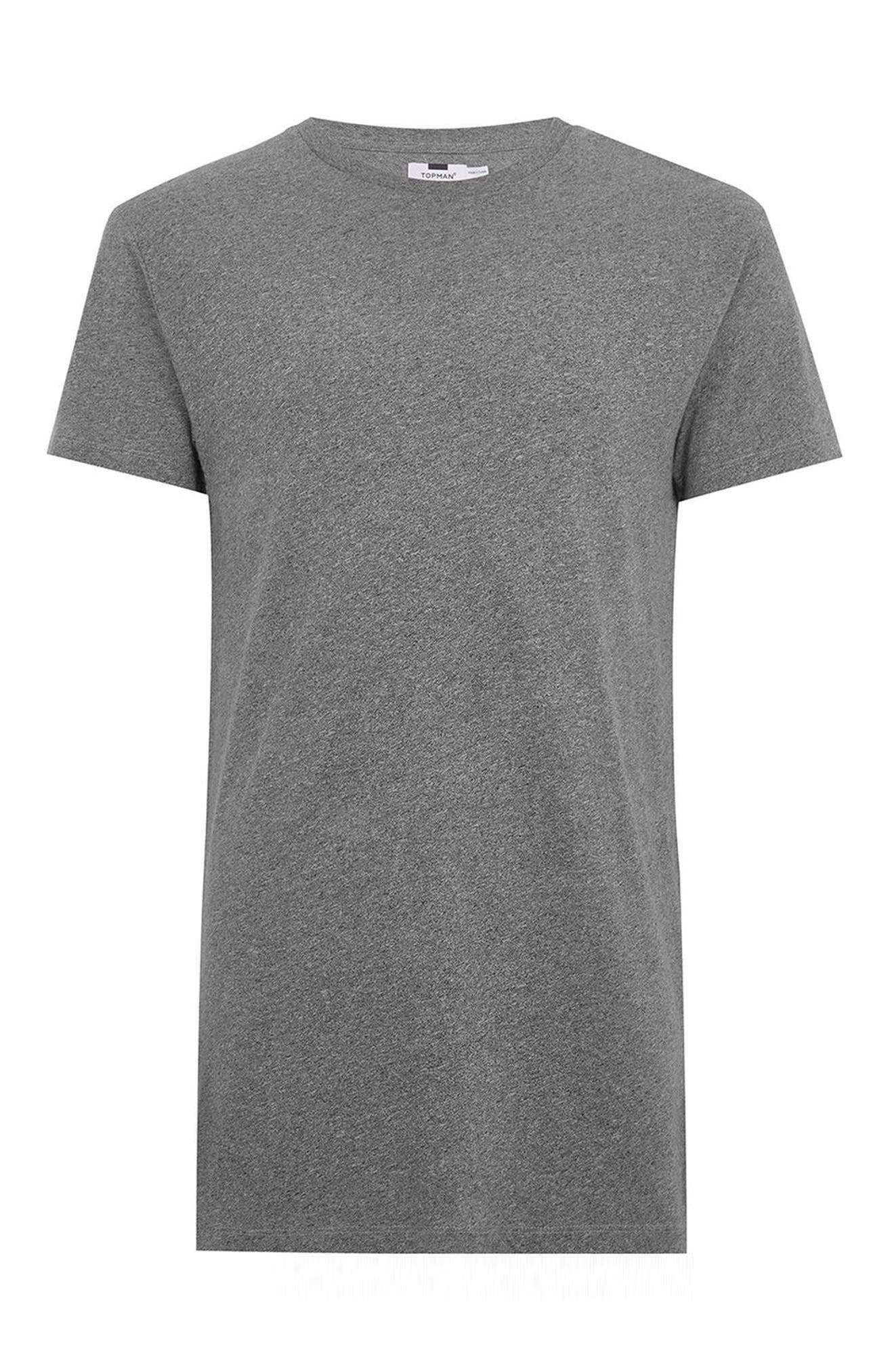 Muscle Fit Longline T-Shirt,                             Alternate thumbnail 4, color,                             020