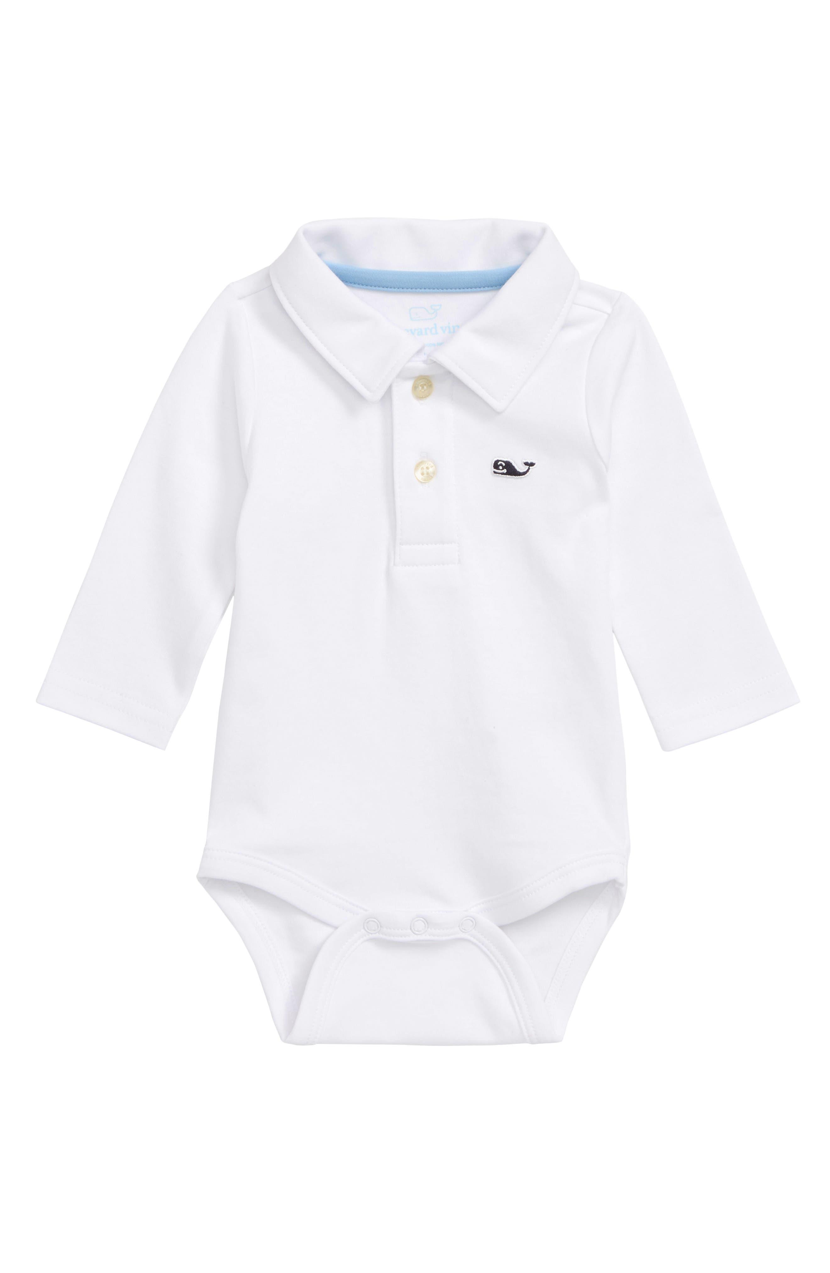 Infant Boys Vineyard Vines Polo Bodysuit Size 1824M  White