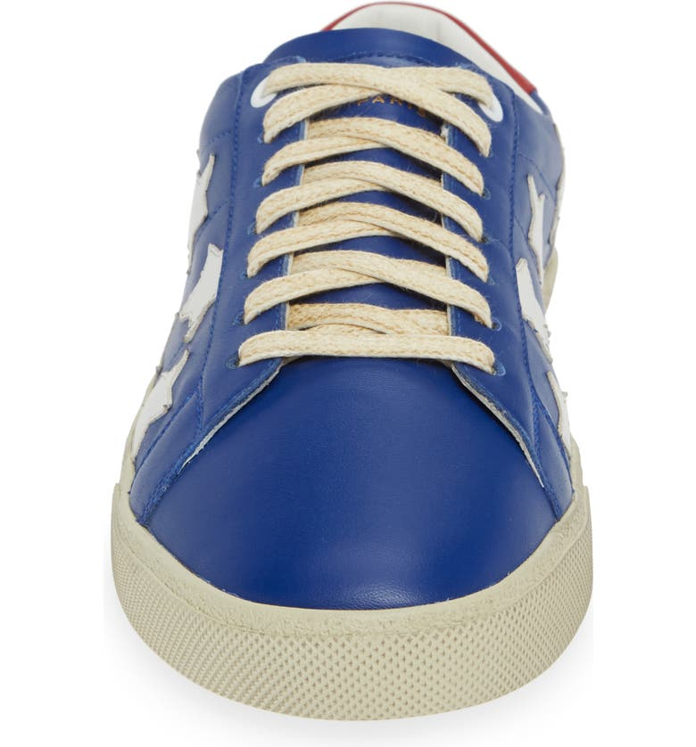 18b70991d205 Shop Saint Laurent Star Low-Top Sneaker In Blue  Multi