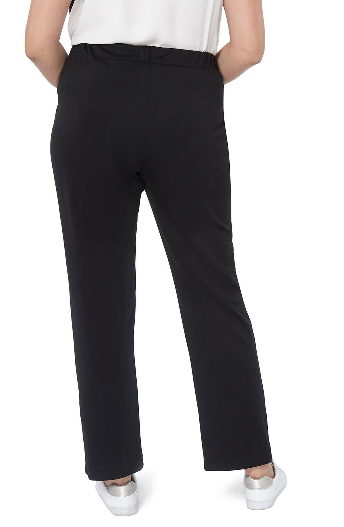 Ponte Slim Leg Trousers,                             Alternate thumbnail 2, color,                             001