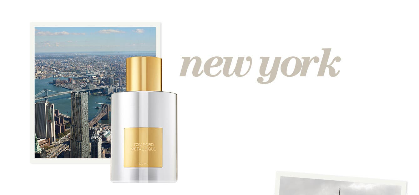 Take note: scents inspired by New York, London, Paris and Milan.