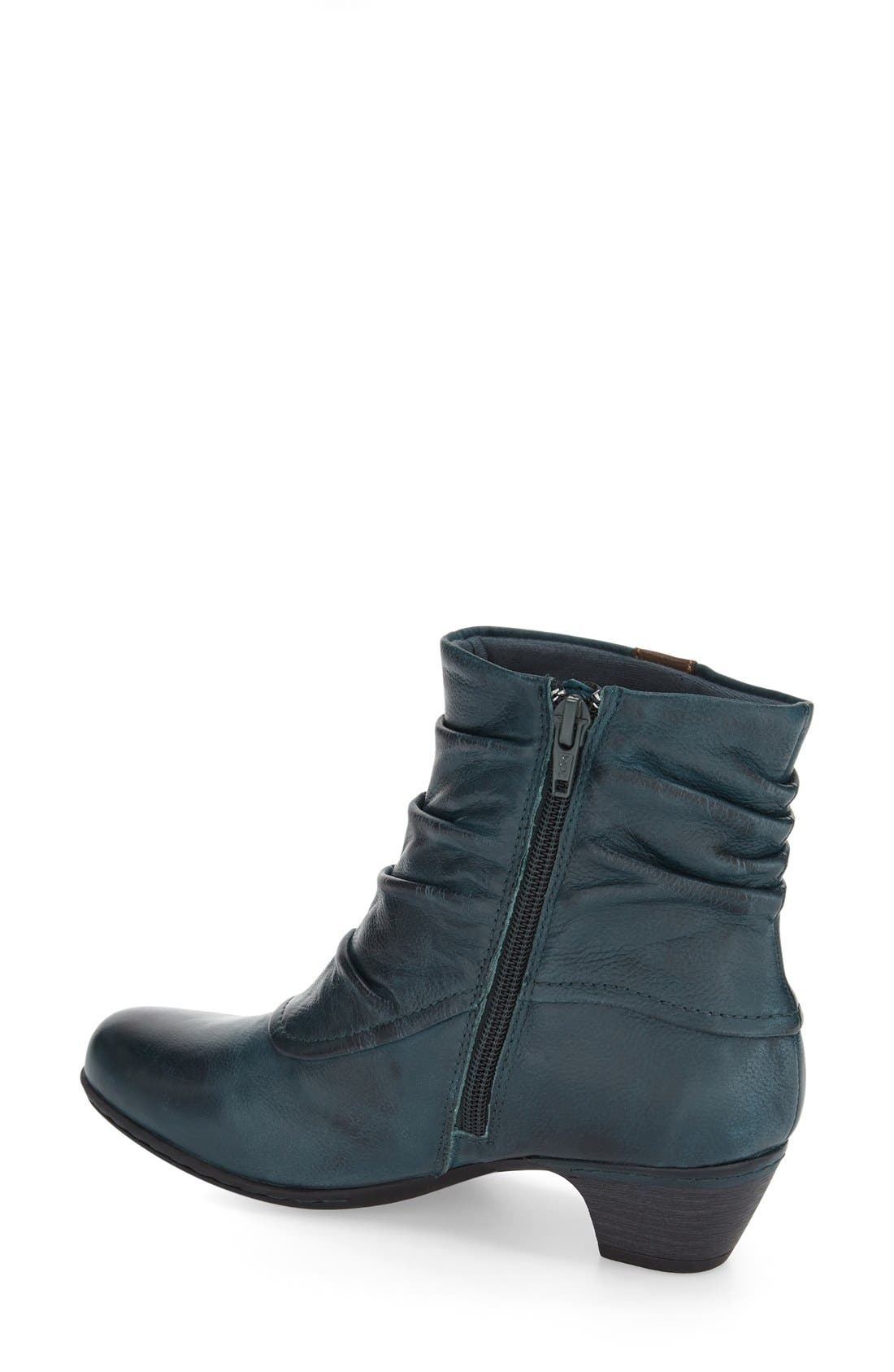 'Alexandra' Boot,                             Alternate thumbnail 4, color,                             BLUE/ TEAL LEATHER