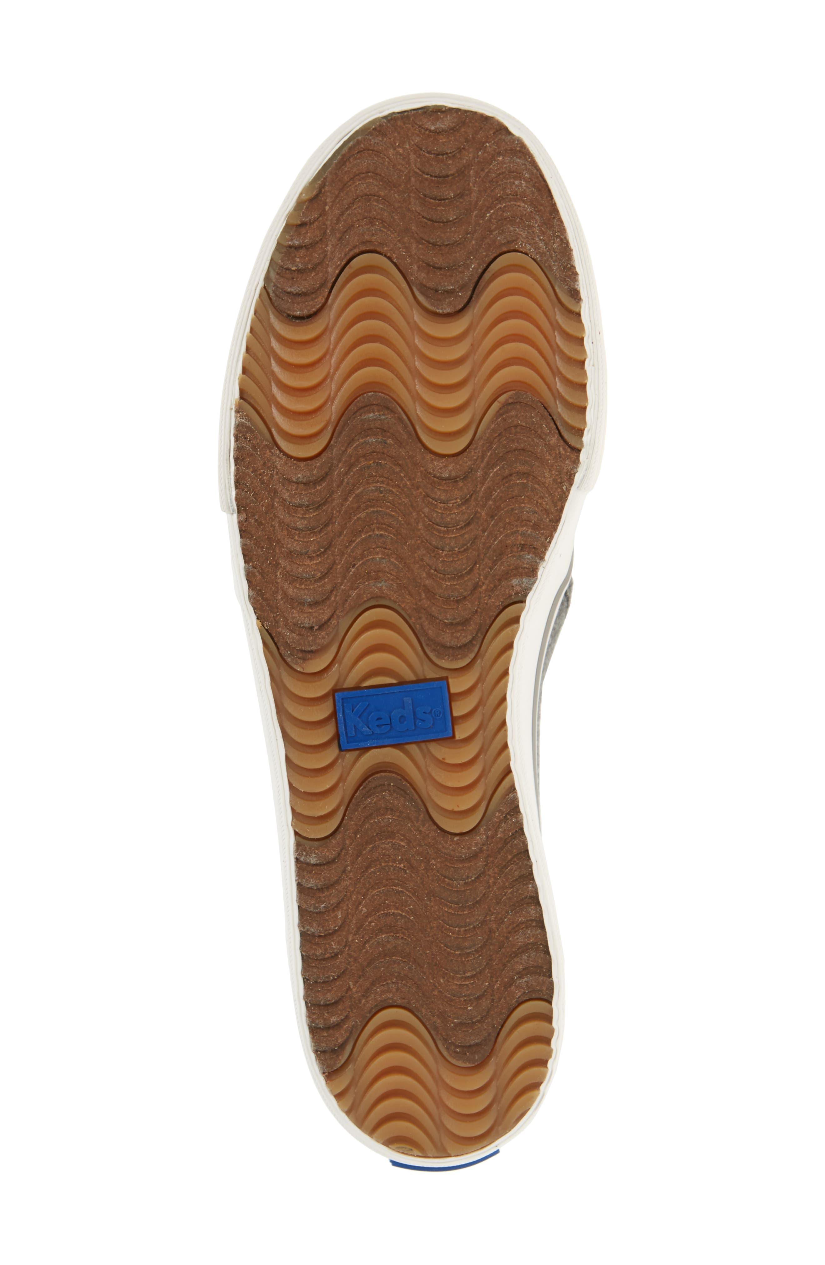 Double Decker Perforated Slip-On Sneaker,                             Alternate thumbnail 6, color,                             021