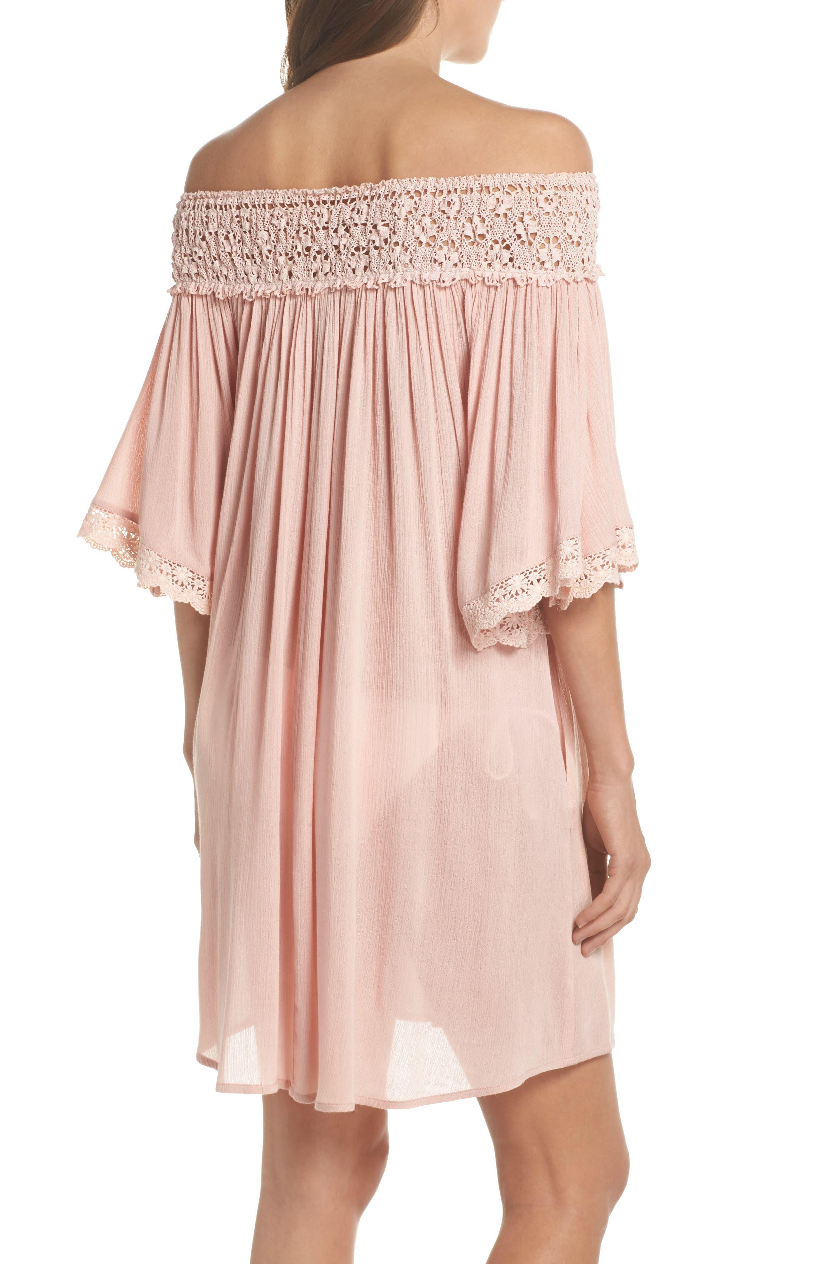 Rimini Crochet Cover-Up Dress,                             Alternate thumbnail 4, color,