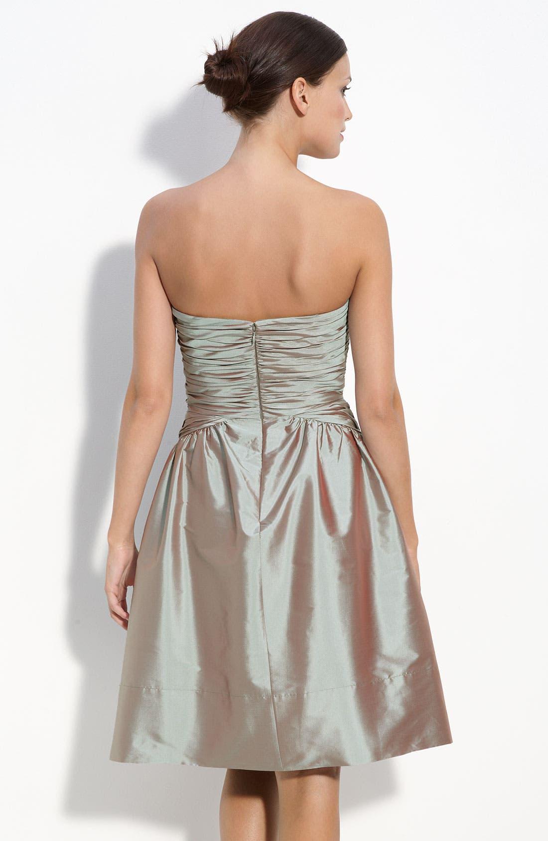 MONIQUE LHUILLIER BRIDESMAIDS,                             ML Monique Lhuillier Bridesmaids Strapless Taffeta Dress,                             Alternate thumbnail 2, color,                             953
