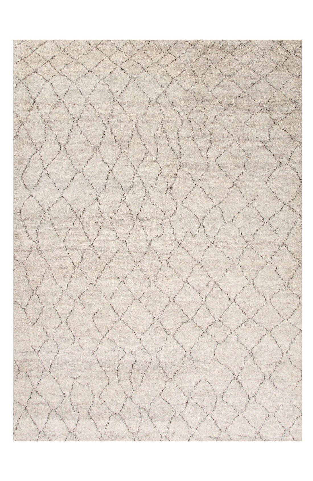 'Zola Irregular Lines' Wool Rug,                         Main,                         color, IVORY/ BROWN