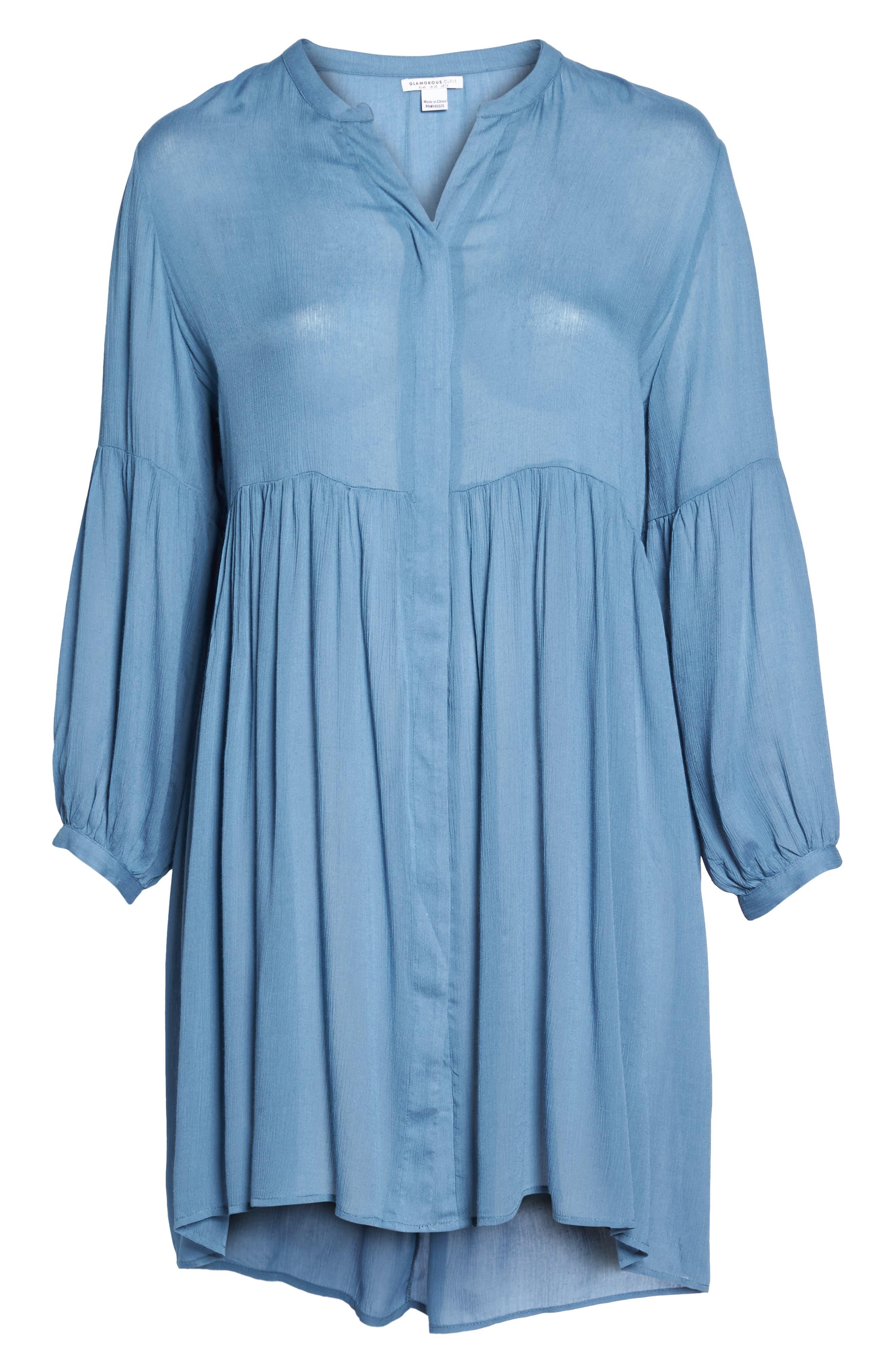 Button Front Shirtdress,                             Alternate thumbnail 6, color,                             455