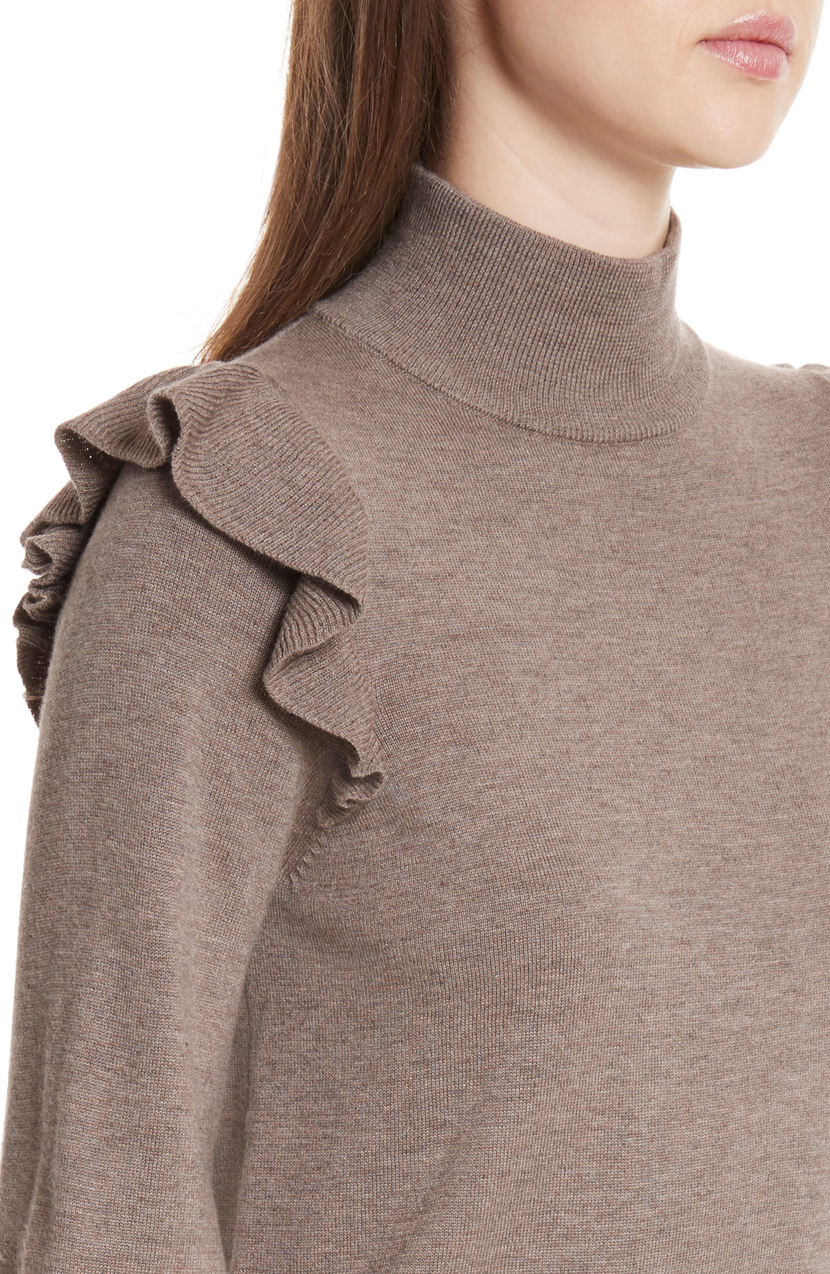 Catriona Wool & Silk Sweater Dress,                             Alternate thumbnail 8, color,