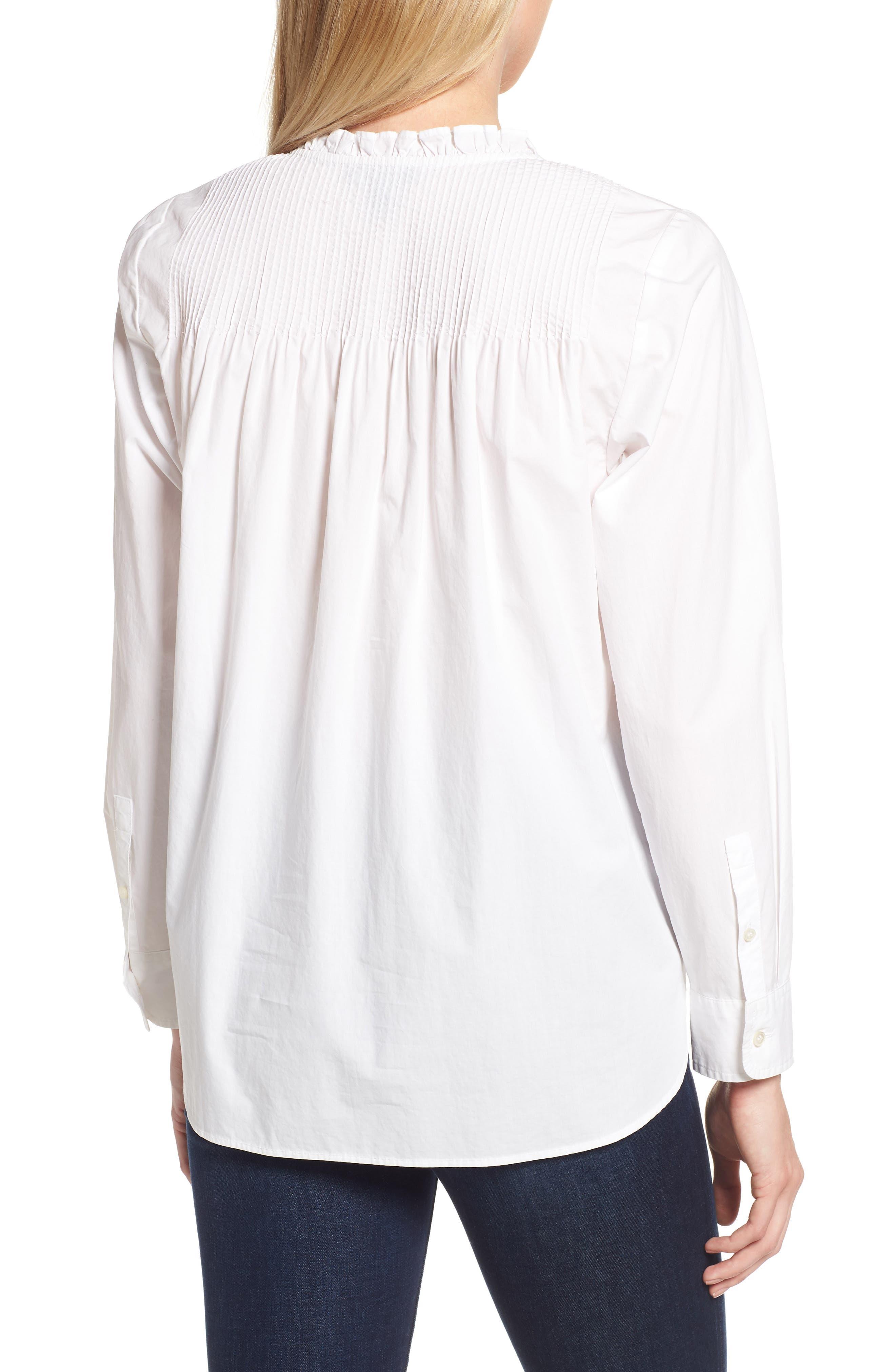 Ruffle Popover Shirt,                             Alternate thumbnail 2, color,                             101