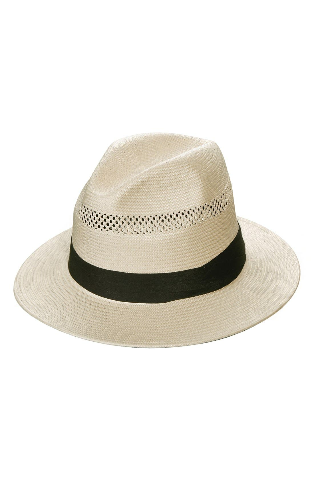 Straw Fedora,                             Main thumbnail 1, color,                             101