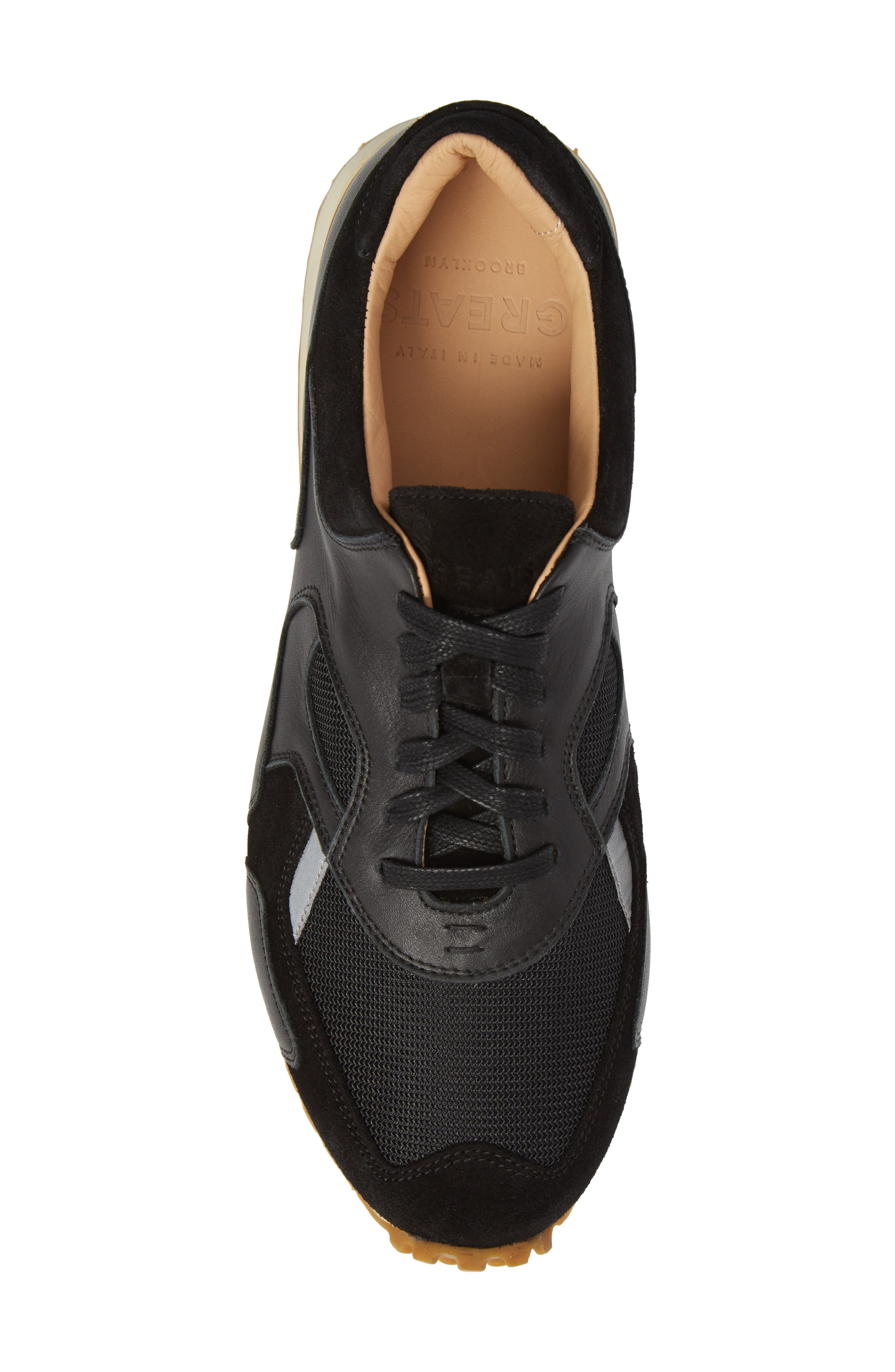 The Pronto Sneaker,                             Alternate thumbnail 5, color,                             BLACK LEATHER