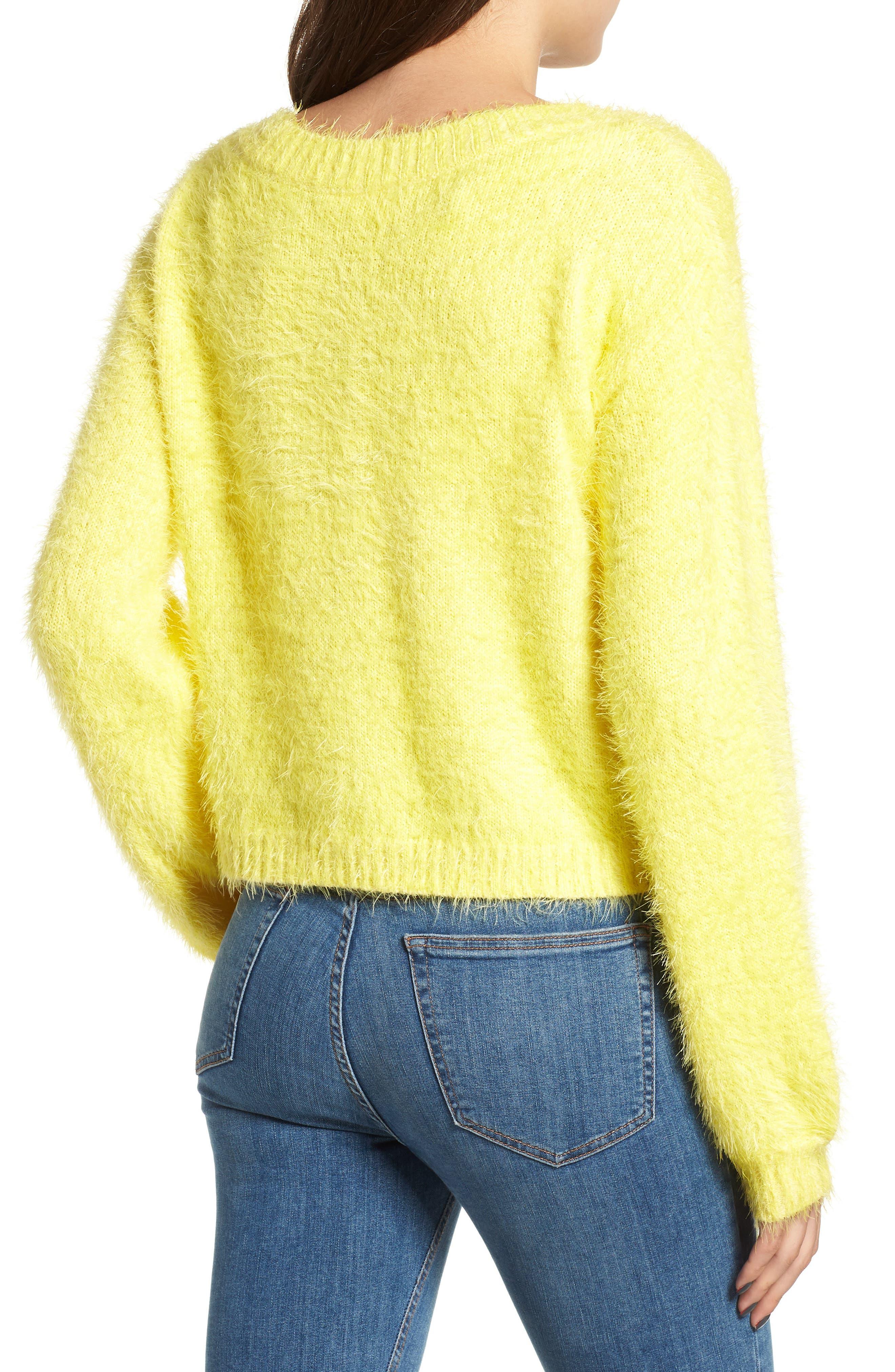Clover Fields Chenille Sweater,                             Alternate thumbnail 2, color,                             MARIGOLD
