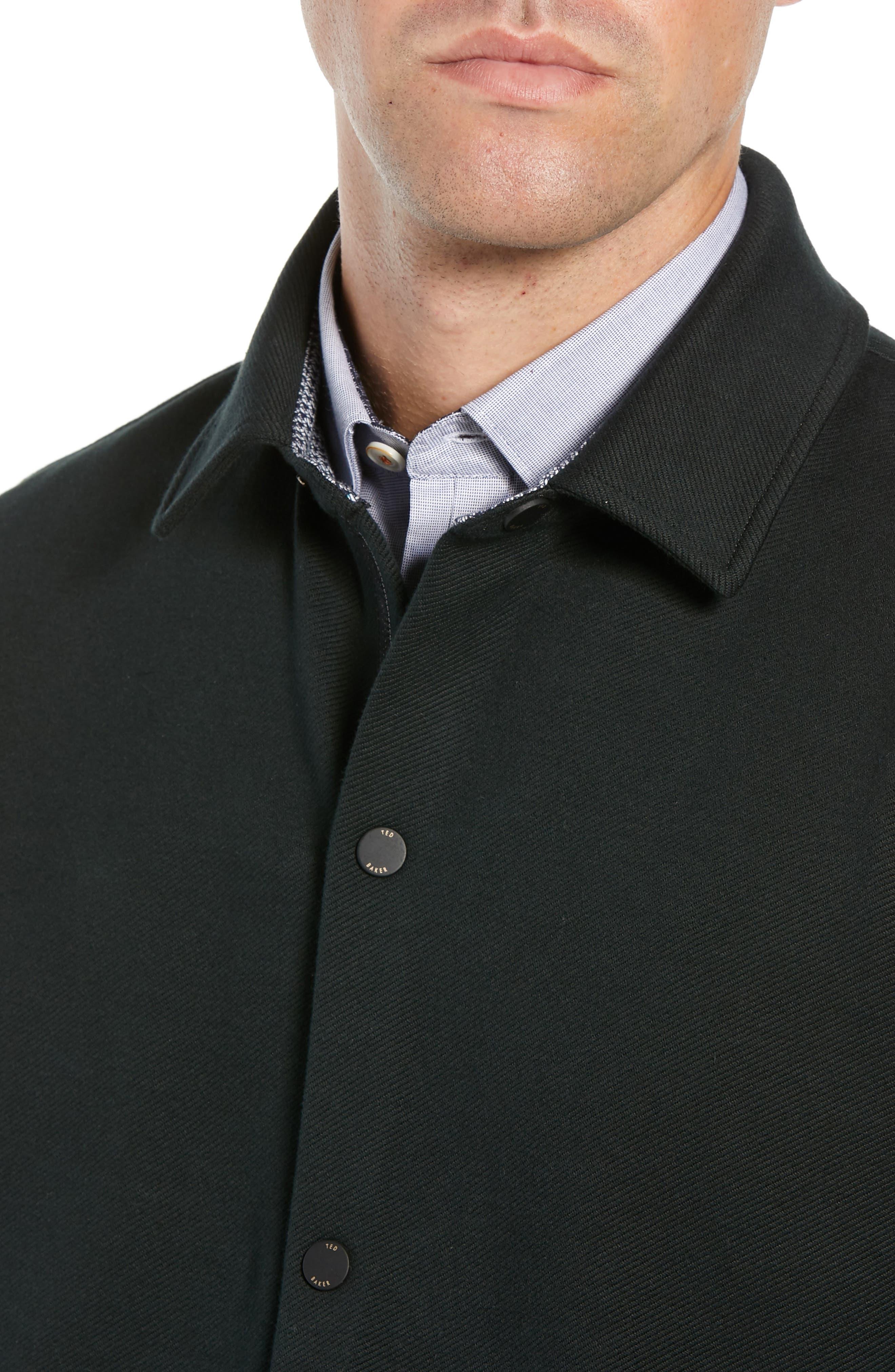 Danett Tall Twill Jacket,                             Alternate thumbnail 4, color,                             BLACK