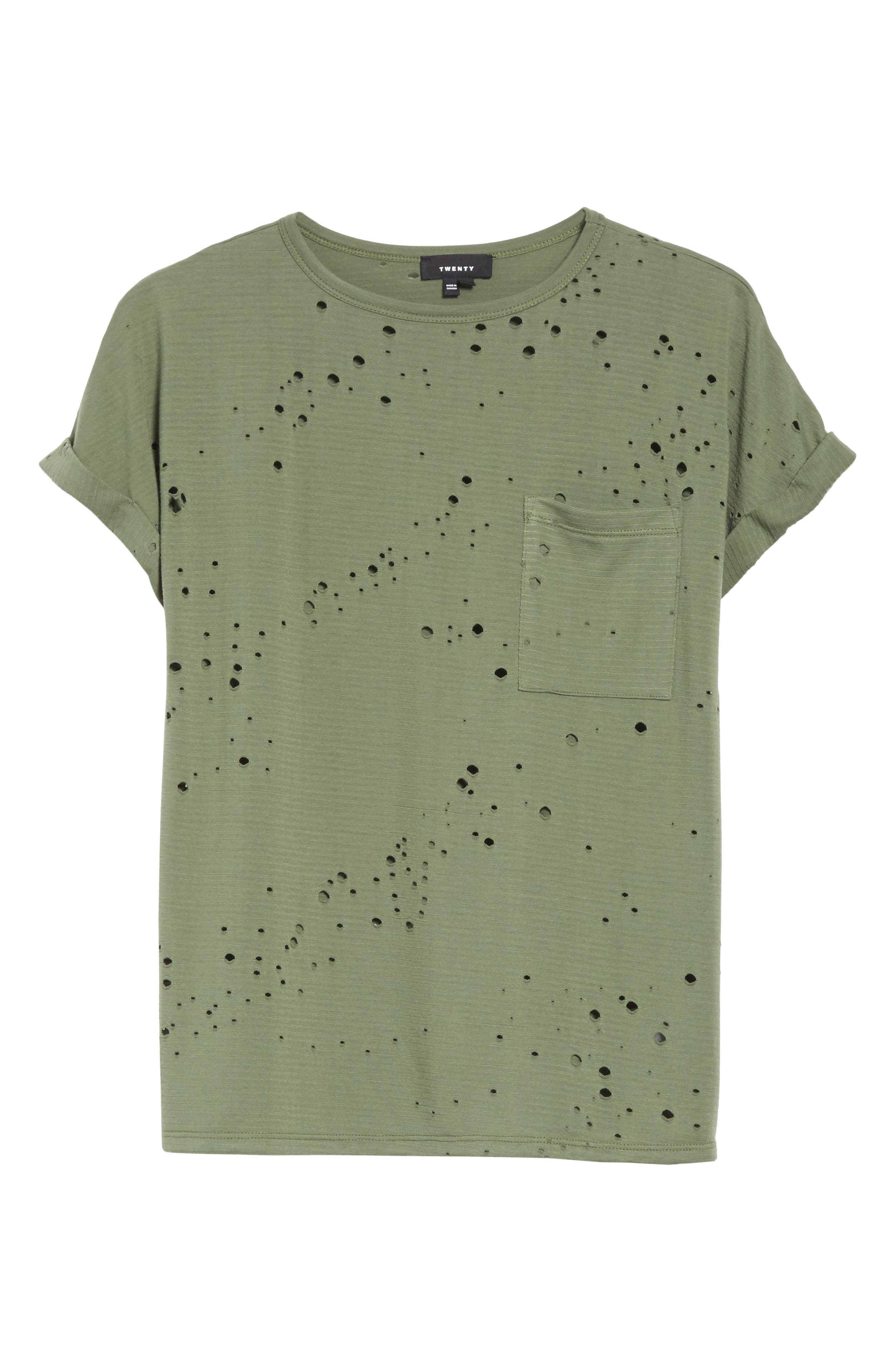 Waverly Perforated Tee,                             Alternate thumbnail 6, color,                             310