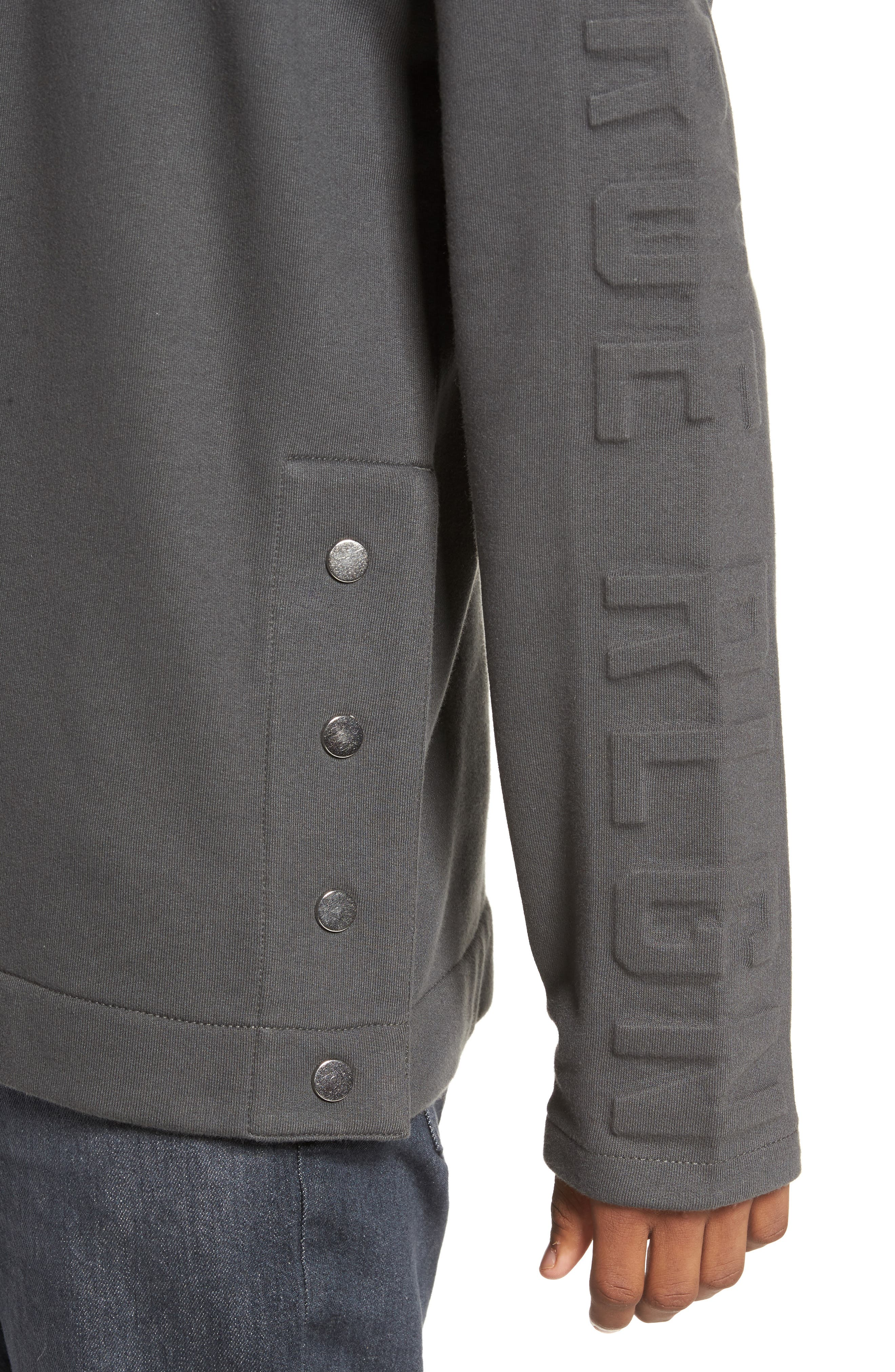 Oversize Fleece Sweatshirt,                             Alternate thumbnail 4, color,                             020