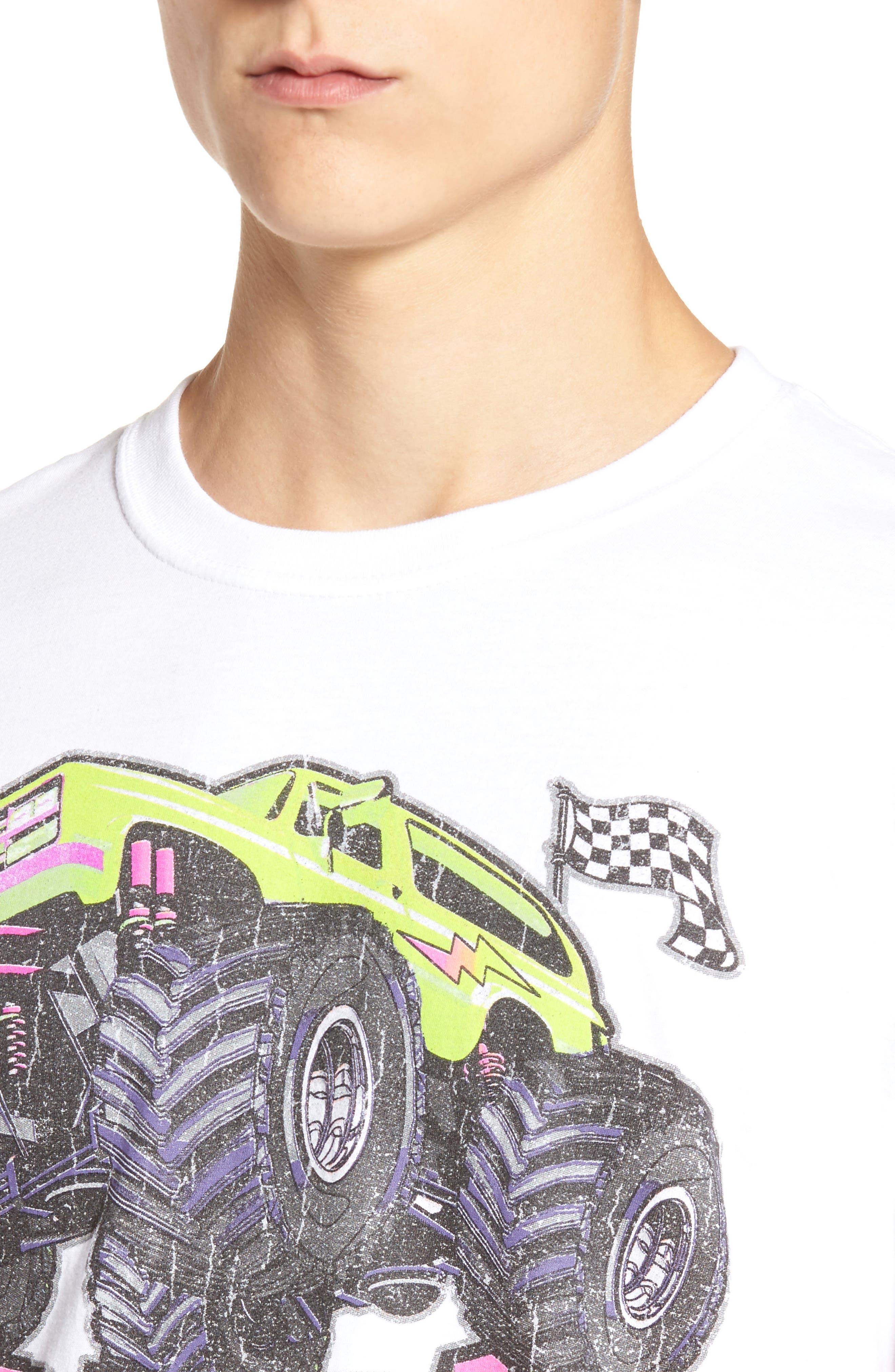 Monster Crush Graphic T-Shirt,                             Alternate thumbnail 4, color,                             100