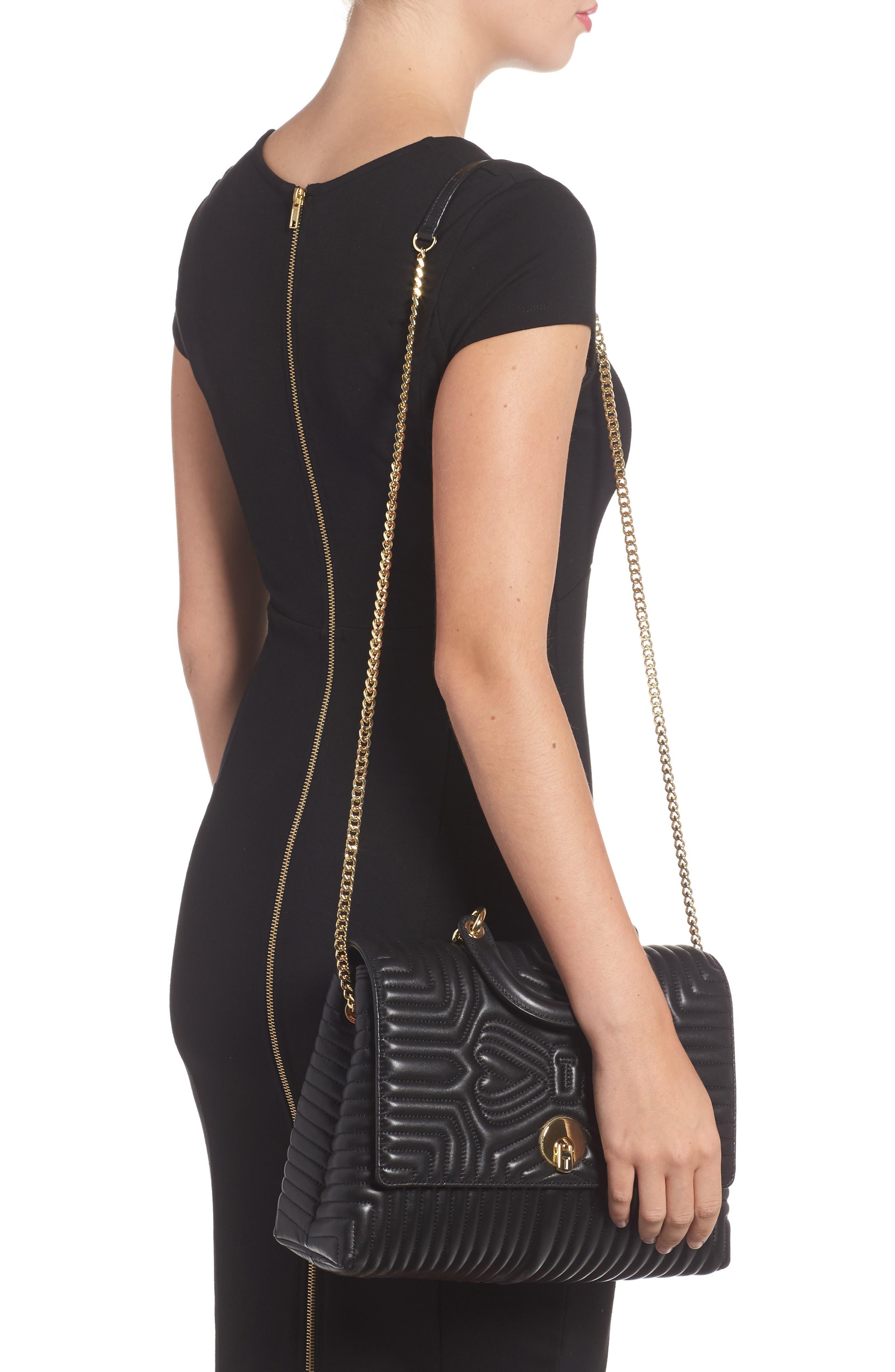 Vivida Quilted Leather Shoulder Bag,                             Alternate thumbnail 2, color,                             001
