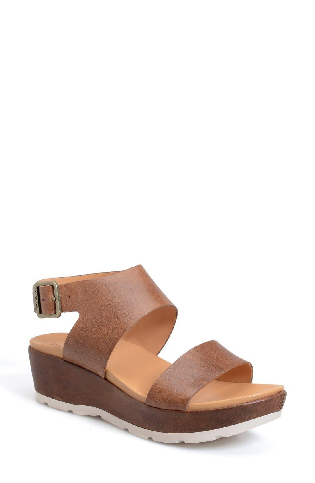 'Khloe' Platform Wedge Sandal,                             Main thumbnail 2, color,